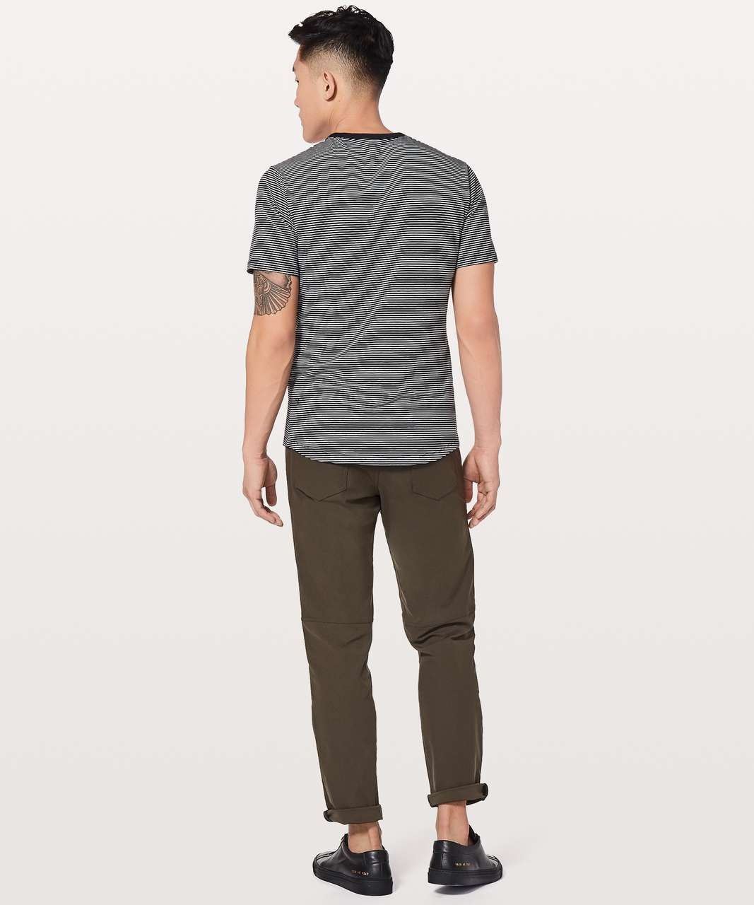 6f41a30bf30a2 Lululemon 5 Year Basic Tee  Updated Fit - Hyper Stripe Black   White ...