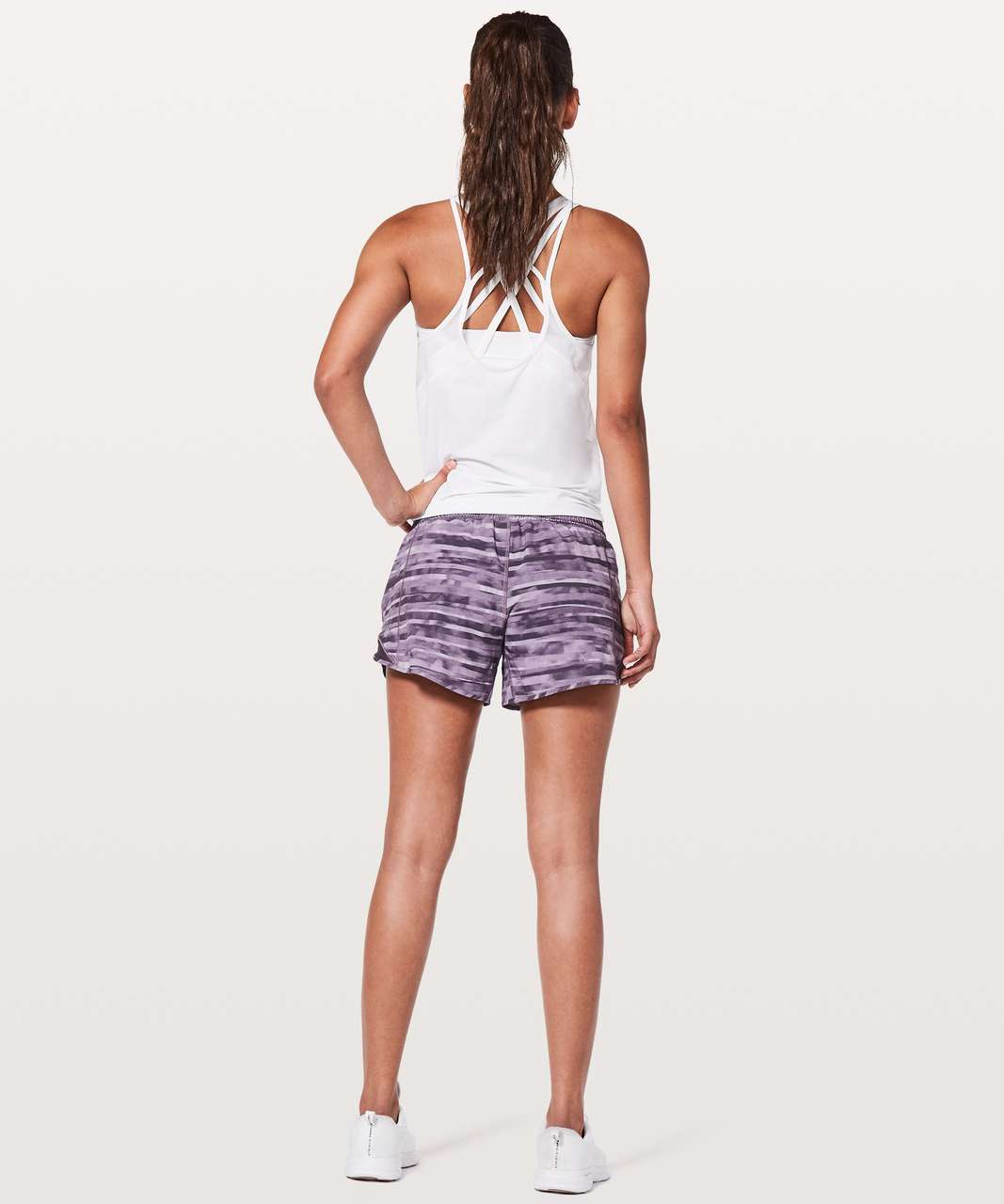 "Lululemon Hotty Hot Short II *Long 4"" - Shadowed Smoked Mullberry / Black Currant"
