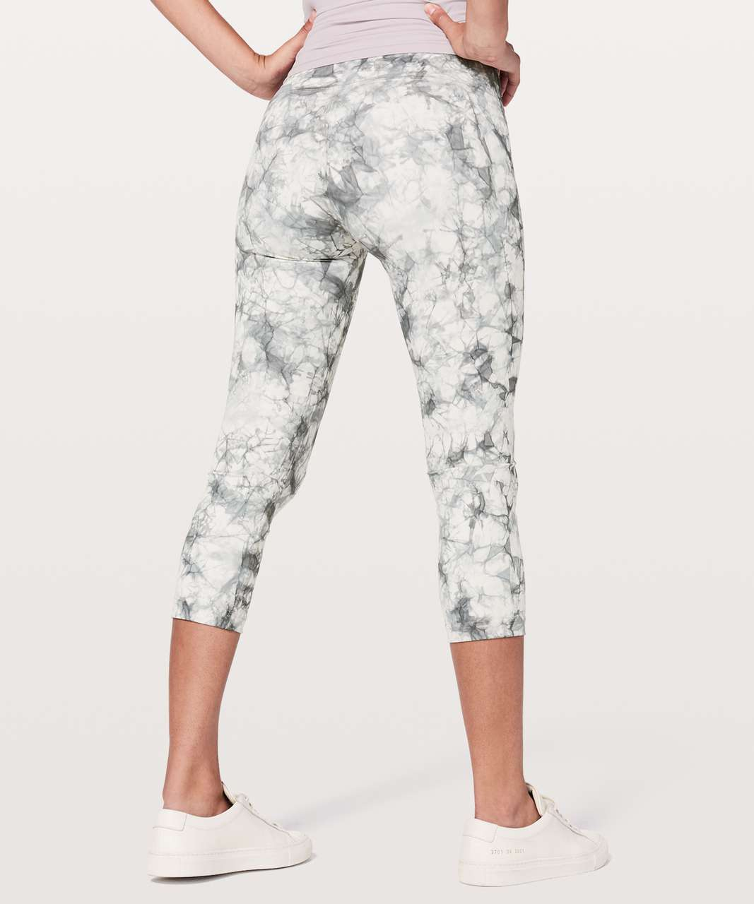 "Lululemon Wunder Under Crop (Hi-Rise) *21"" - Dual Shibori Antique White Baltic Grey"