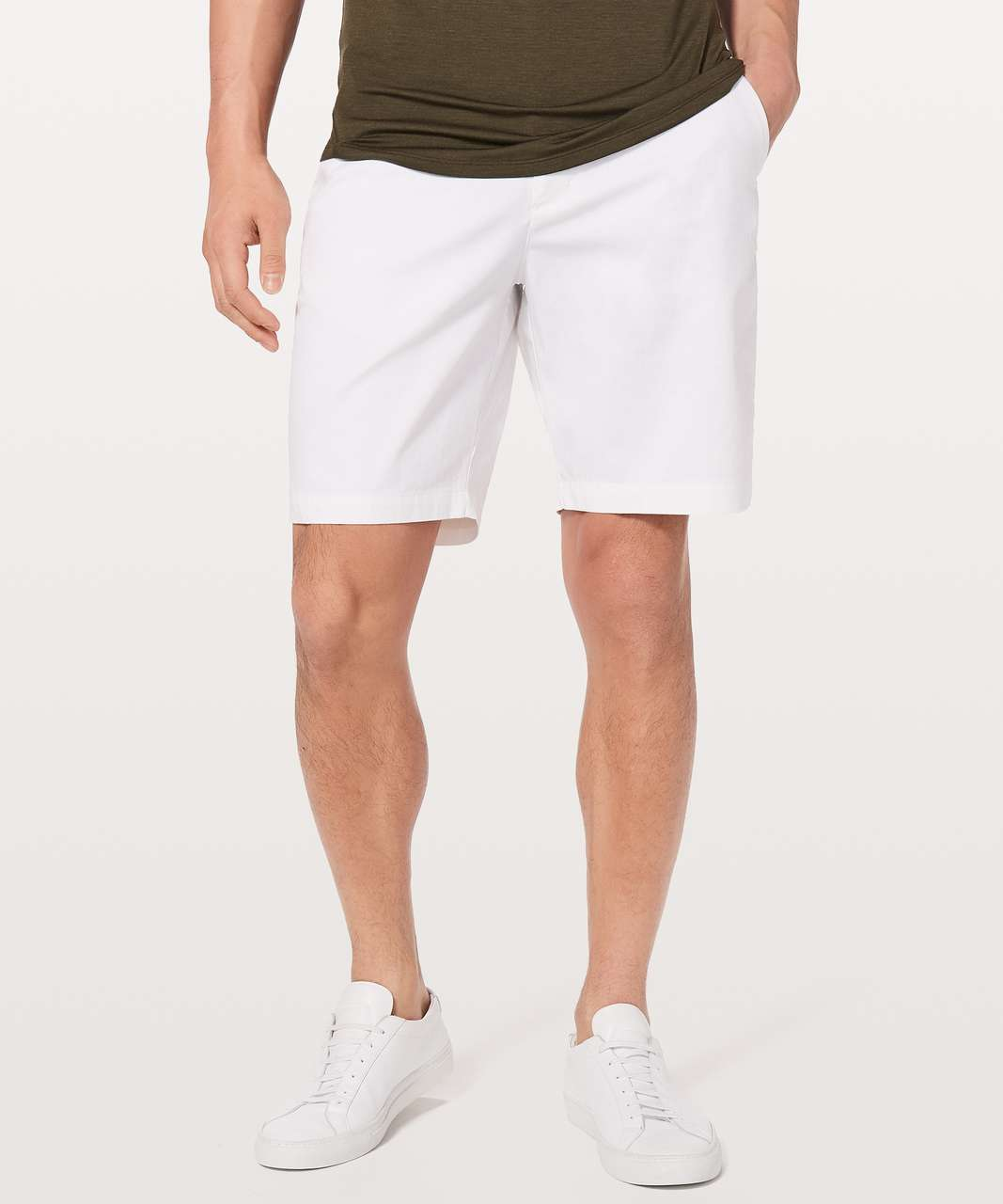 "Lululemon Commission Short Slim *Chino 9"" - White"