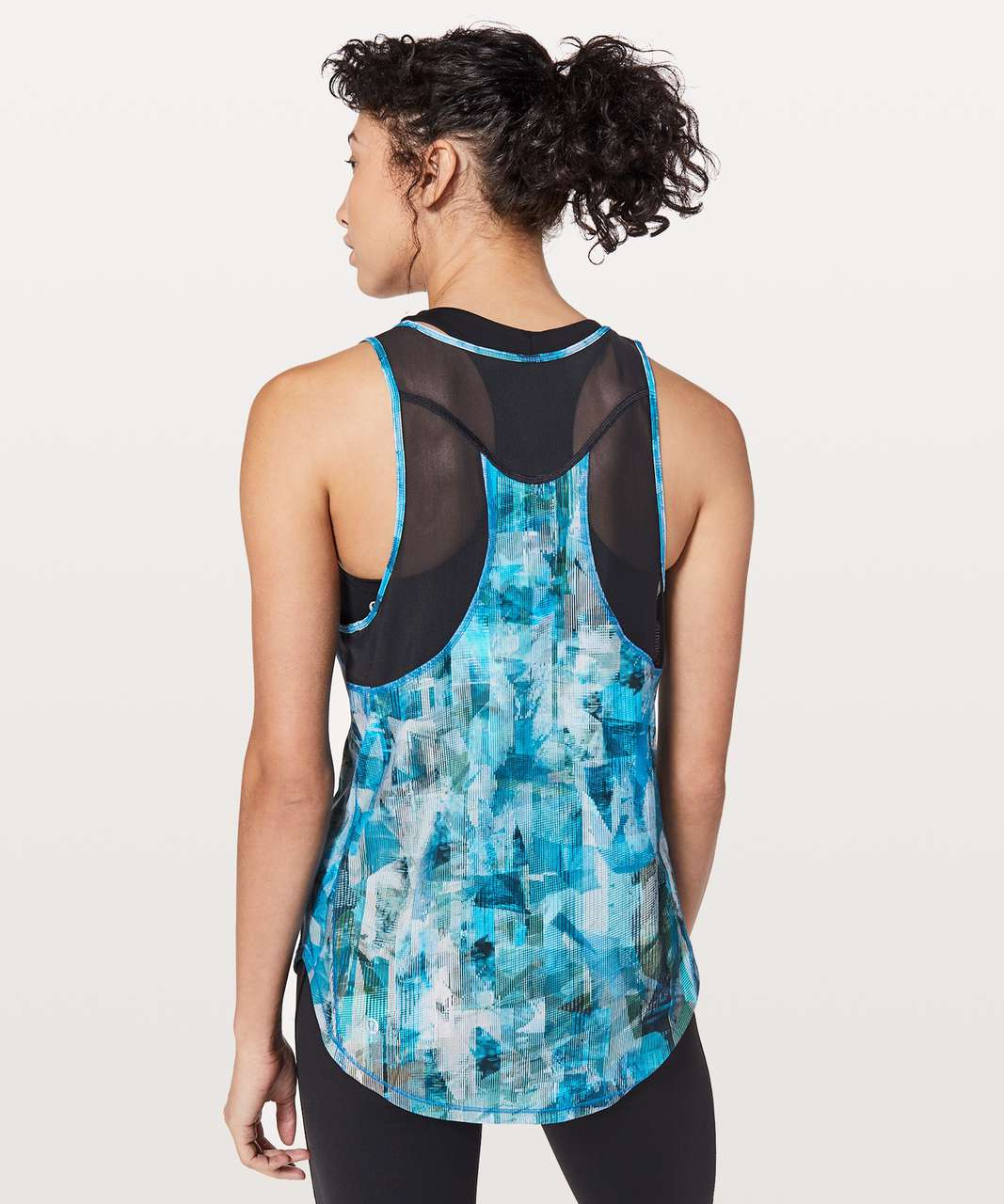 Lululemon Sculpt Tank II - Sun Dazed Multi Blue / Super Dark