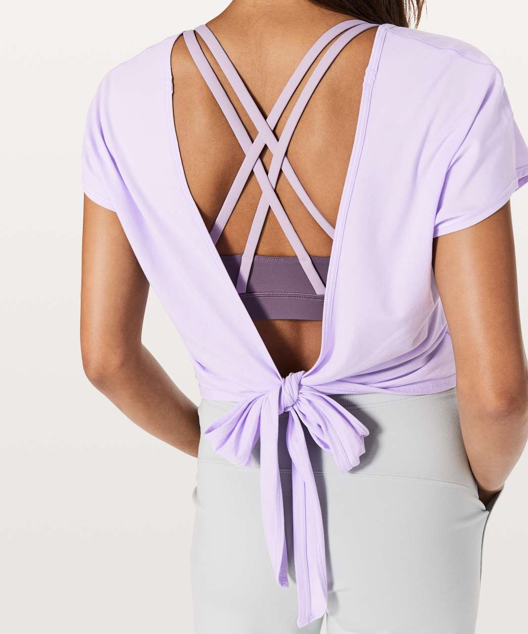 Lululemon Its A Tie Tee - Sheer Violet