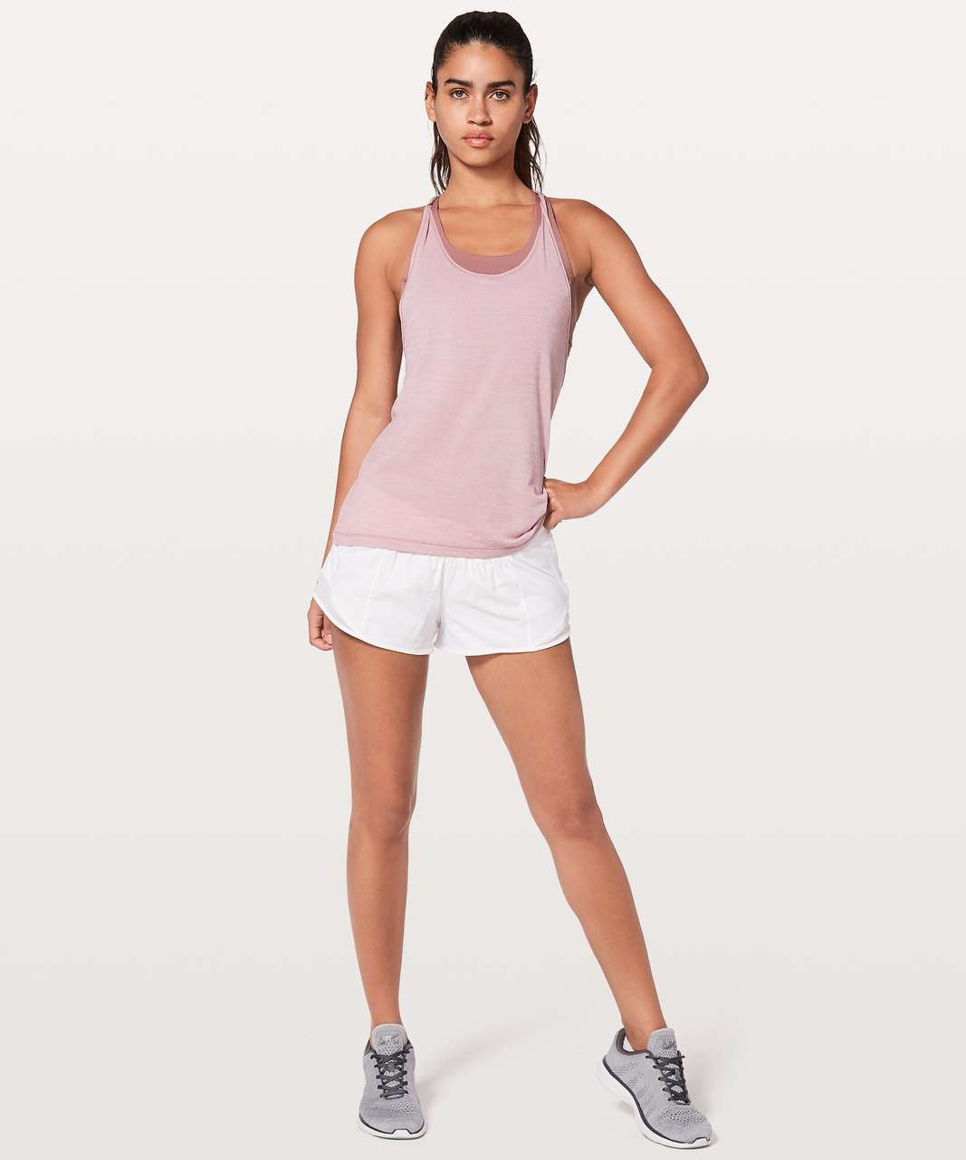 Lululemon Twist & Toil Tank - Heathered Rose Blush / Figue