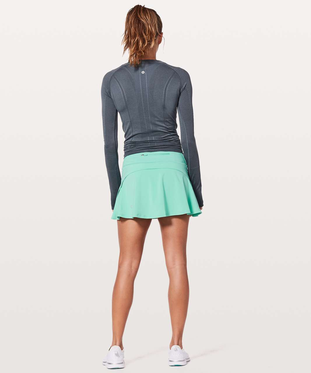"Lululemon Play Off The Pleats Skirt *13"" - Washed Marsh"