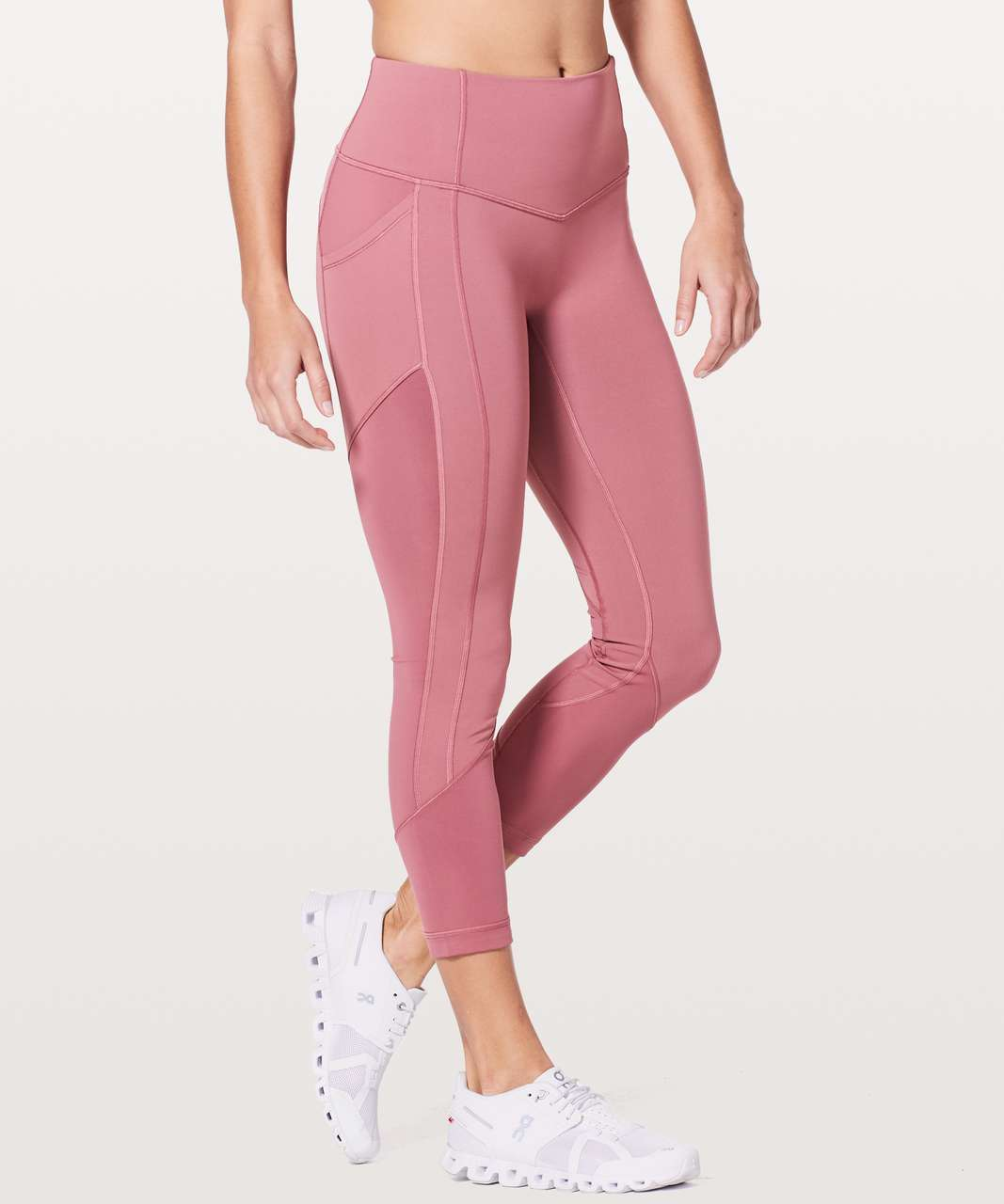 "Lululemon All The Right Places Crop II *23"" - Moss Rose"