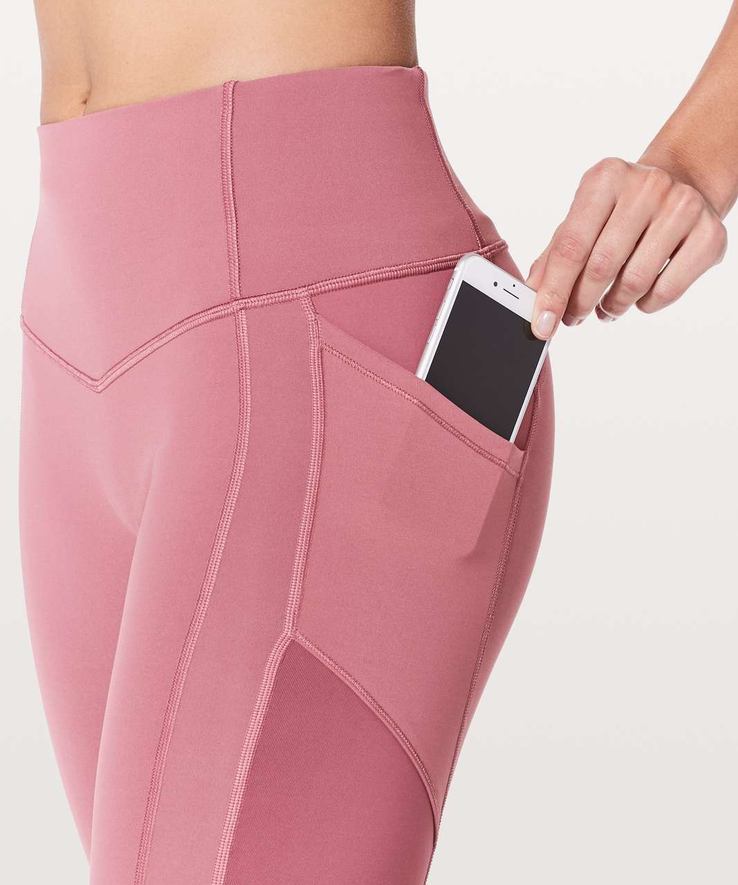 """Lululemon All The Right Places Crop II *23"""" - Moss Rose"""