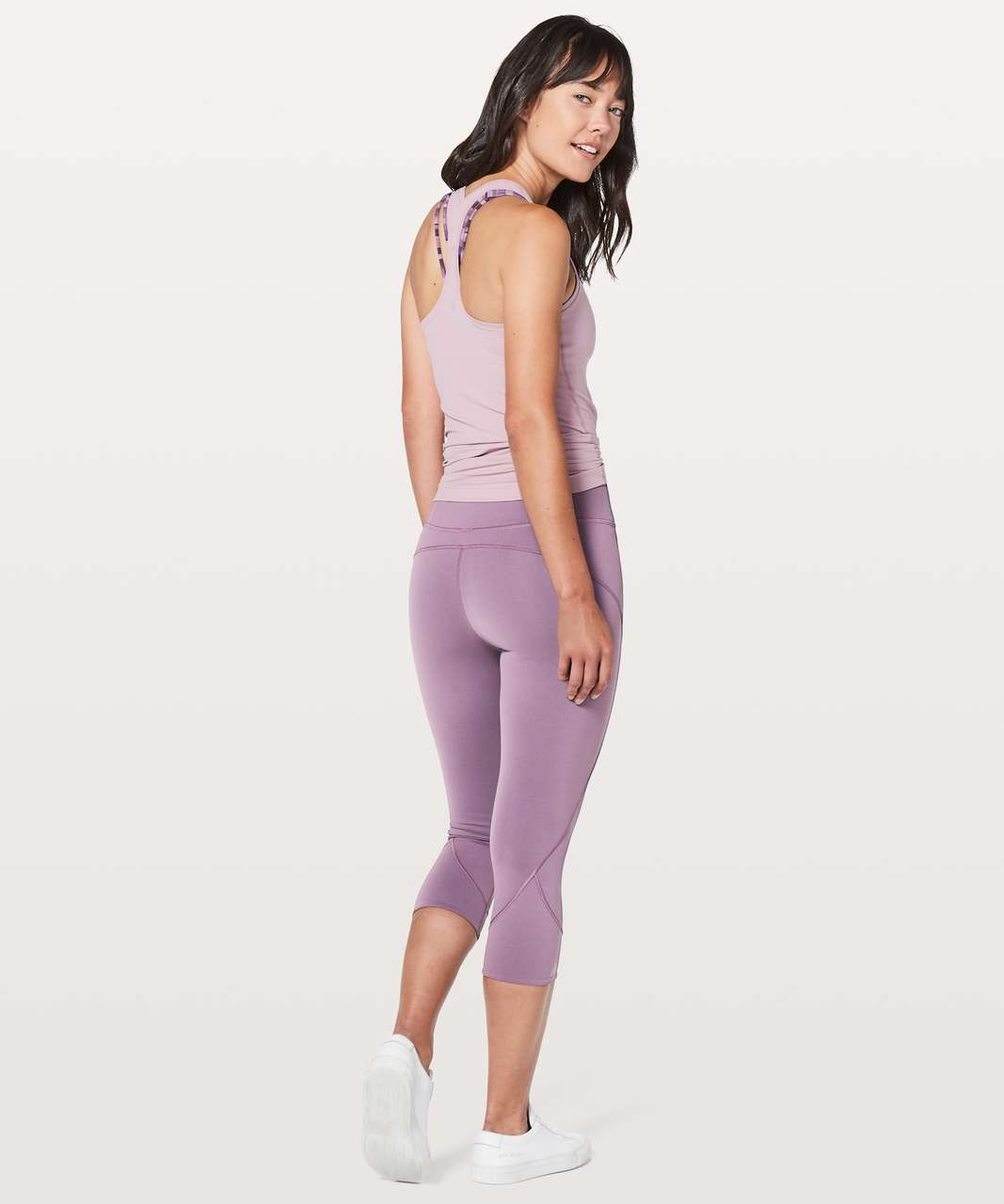 "Lululemon In Movement Crop *Everlux 19"" - Smoked Mulberry"