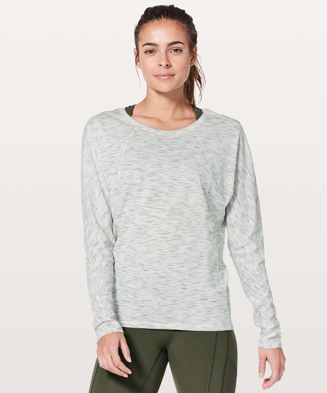Lululemon Set To Sweat Long Sleeve - Tiger Space Dye Hail White