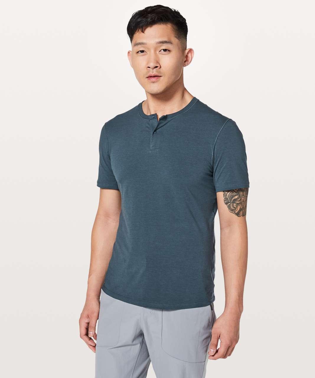 Lululemon 5 Year Basic Short Sleeve Henley - Mach Blue