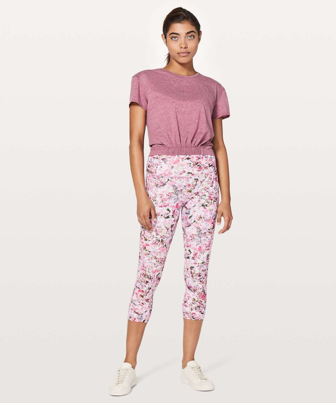 "Lululemon Wunder Under Crop (Hi-Rise) *Full-On Luxtreme 21"" - Blossom Spritz Multi"