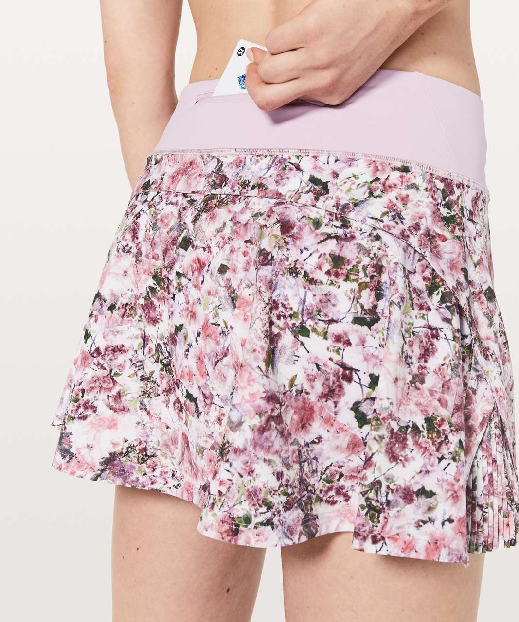 "Lululemon Play Off The Pleats Skirt *13"" - Blossom Spritz Multi / Pink Chalk"