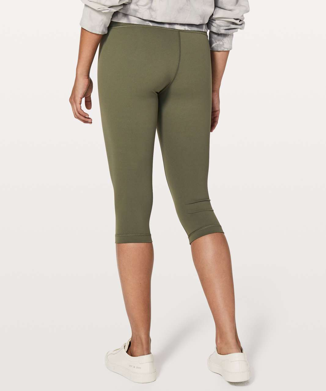 "Lululemon Wunder Under Hi-Rise 1/2 Tight *17"" - Sage"