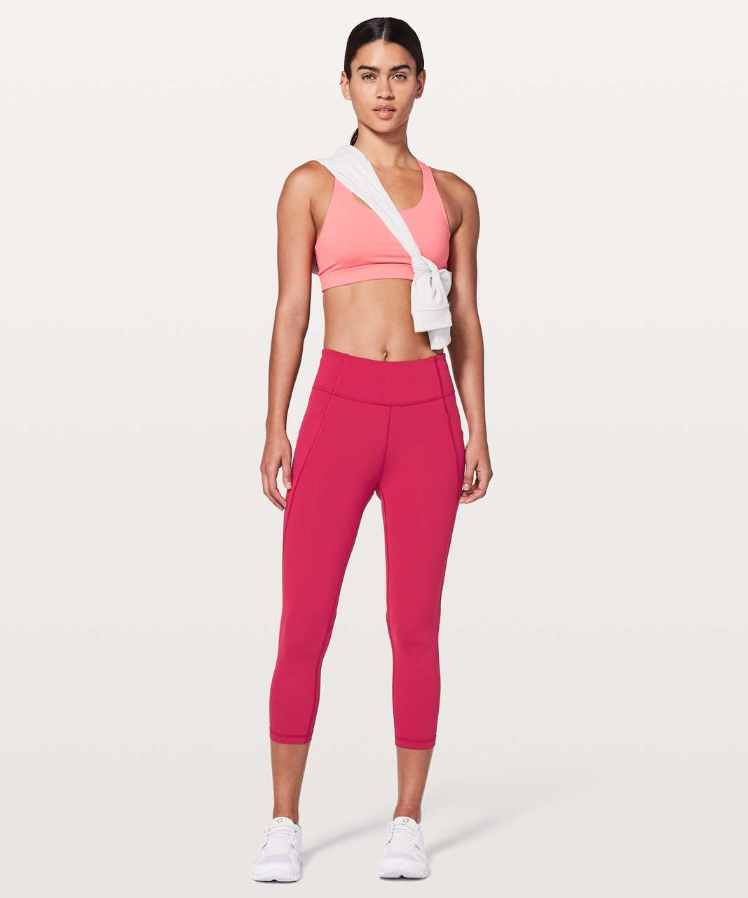 "Lululemon Time To Sweat Crop *23"" - Ruby Red"