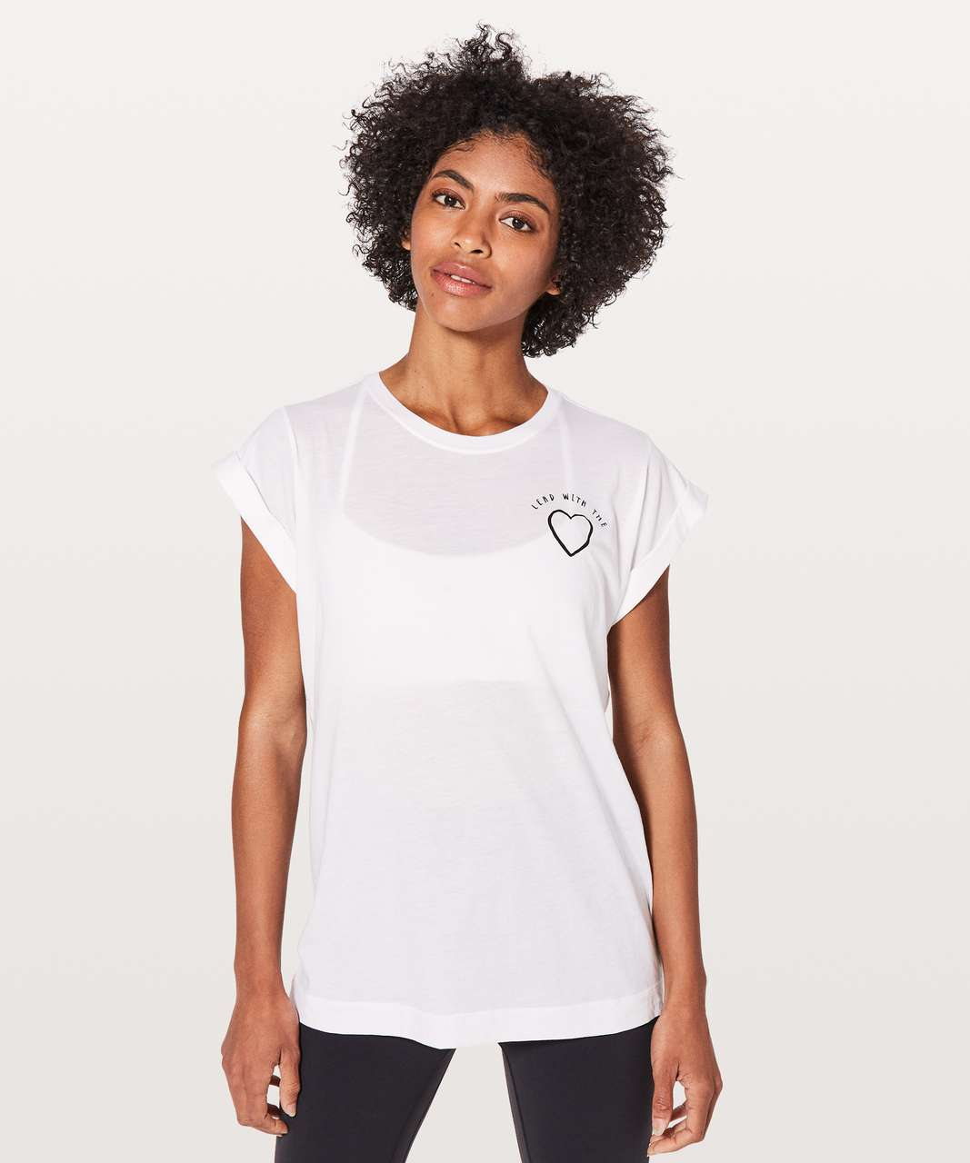 Lululemon Roll Around Tee *Expression - White