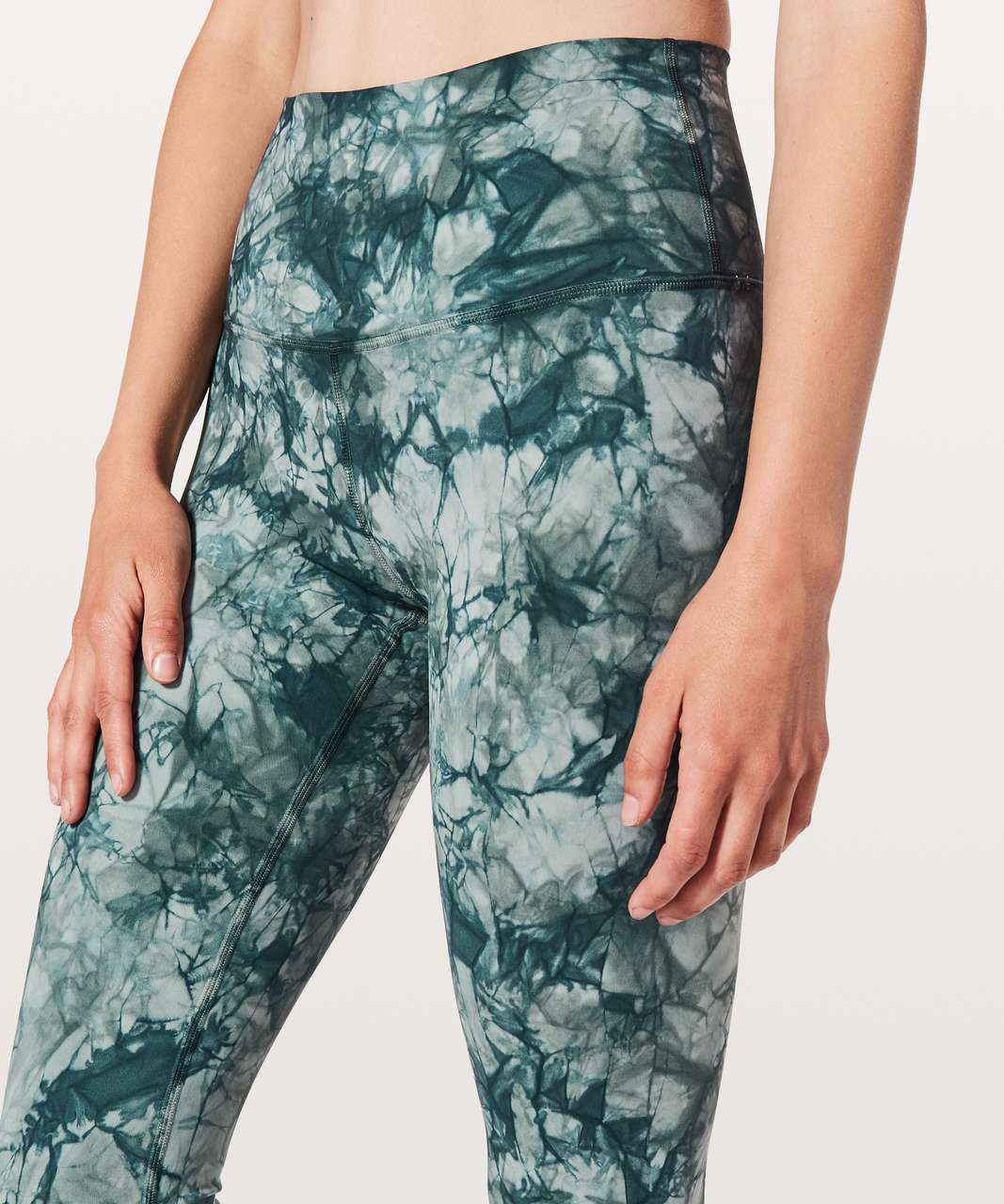 "Lululemon Wunder Under Hi-Rise Tight *Shibori Full-On Luxtreme 28"" - Dual Shibori Misty Moss Sea Steel"