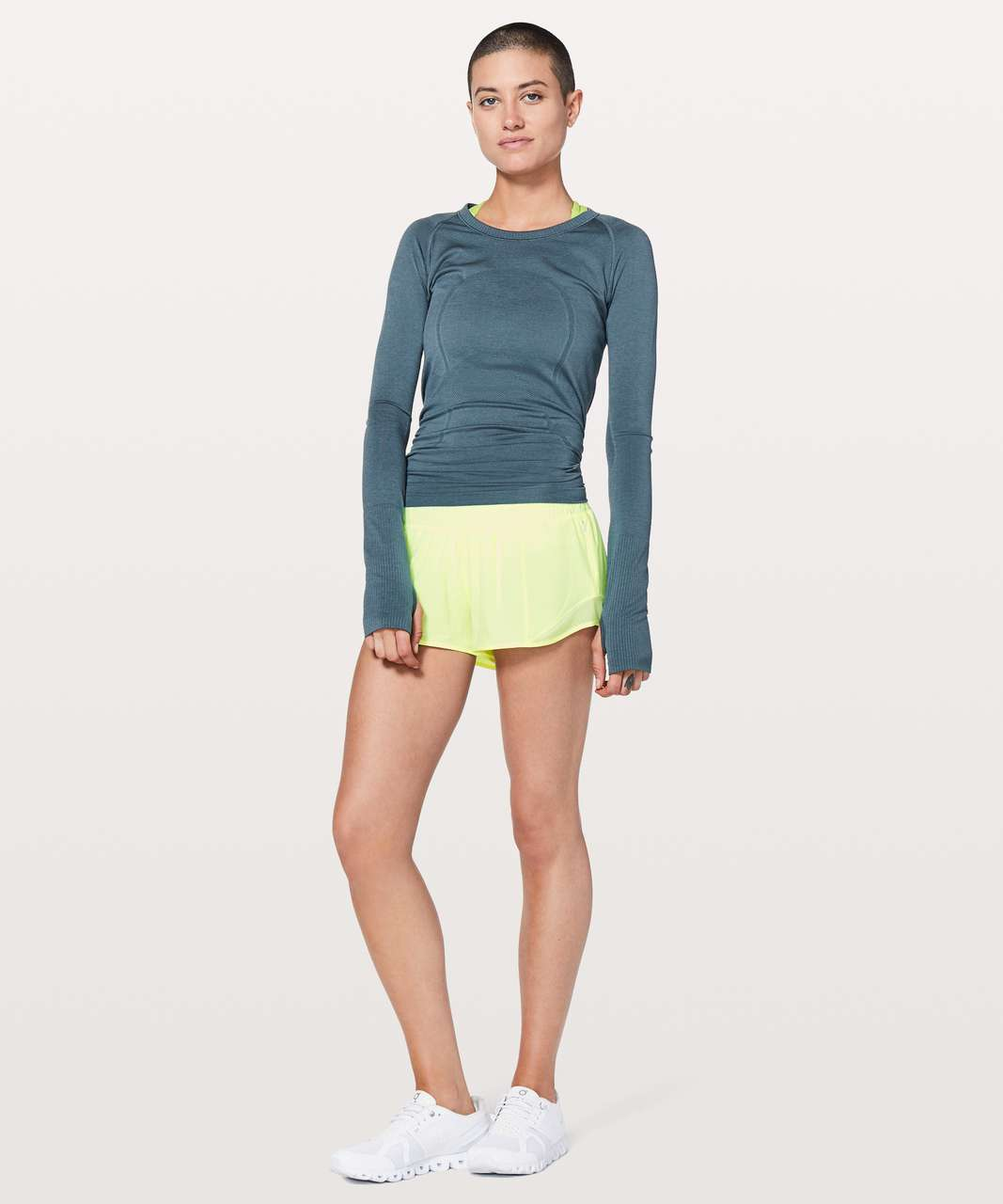 "Lululemon Hotty Hot Short II *2.5"" - Fluro Citrus"