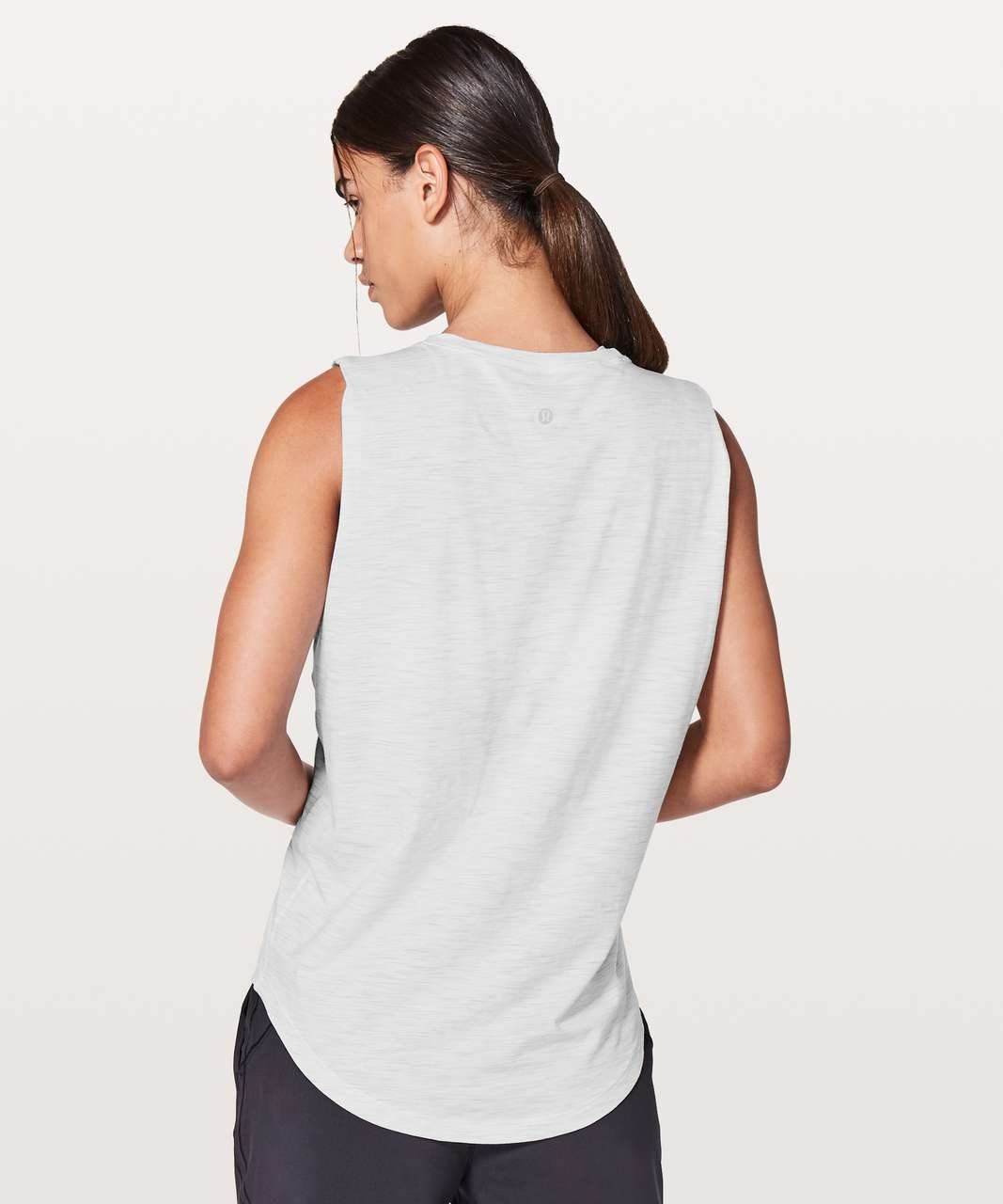 Lululemon Brunswick Muscle Tank - 3 Colour Space Dye Ice Grey Alpine White