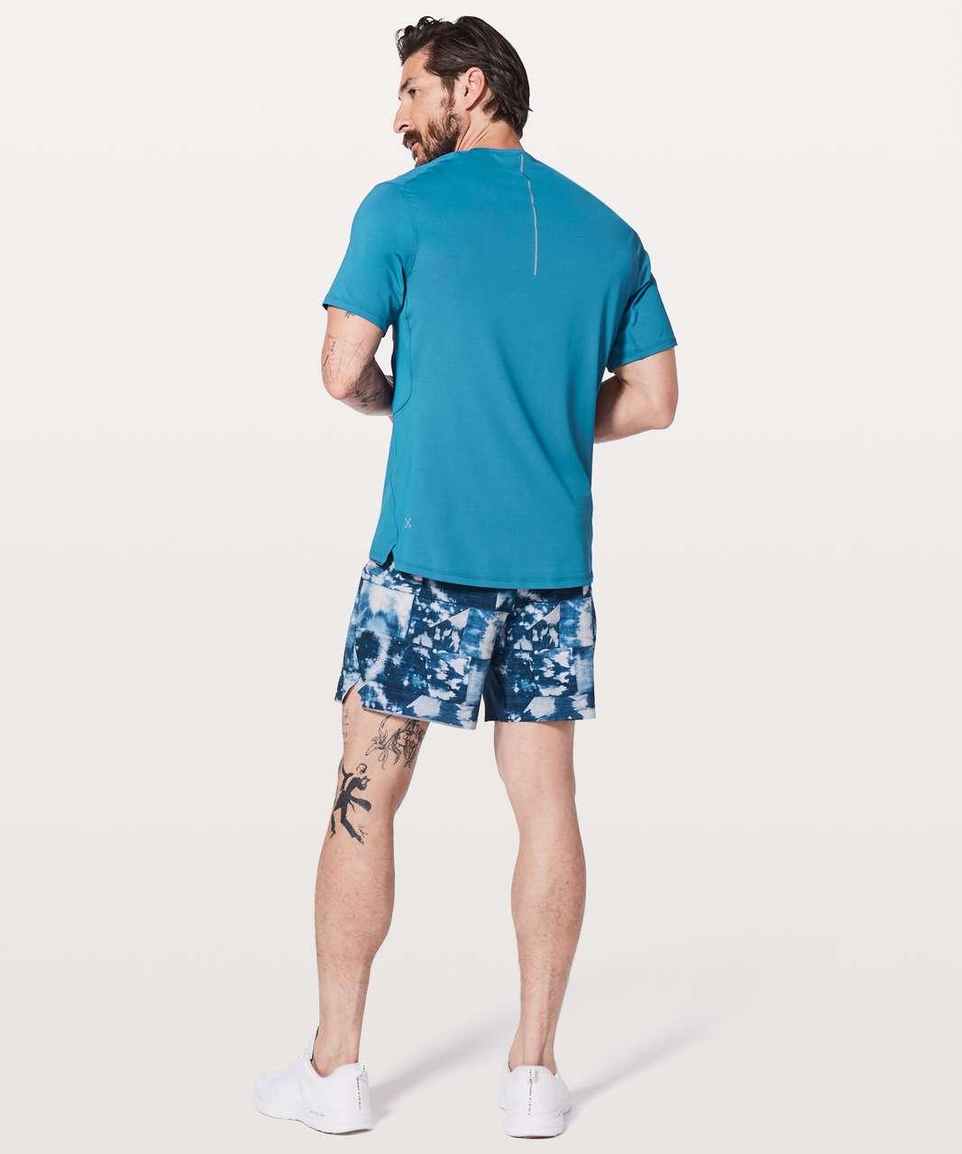 Lululemon Run Out Short Sleeve - Pewter Blue