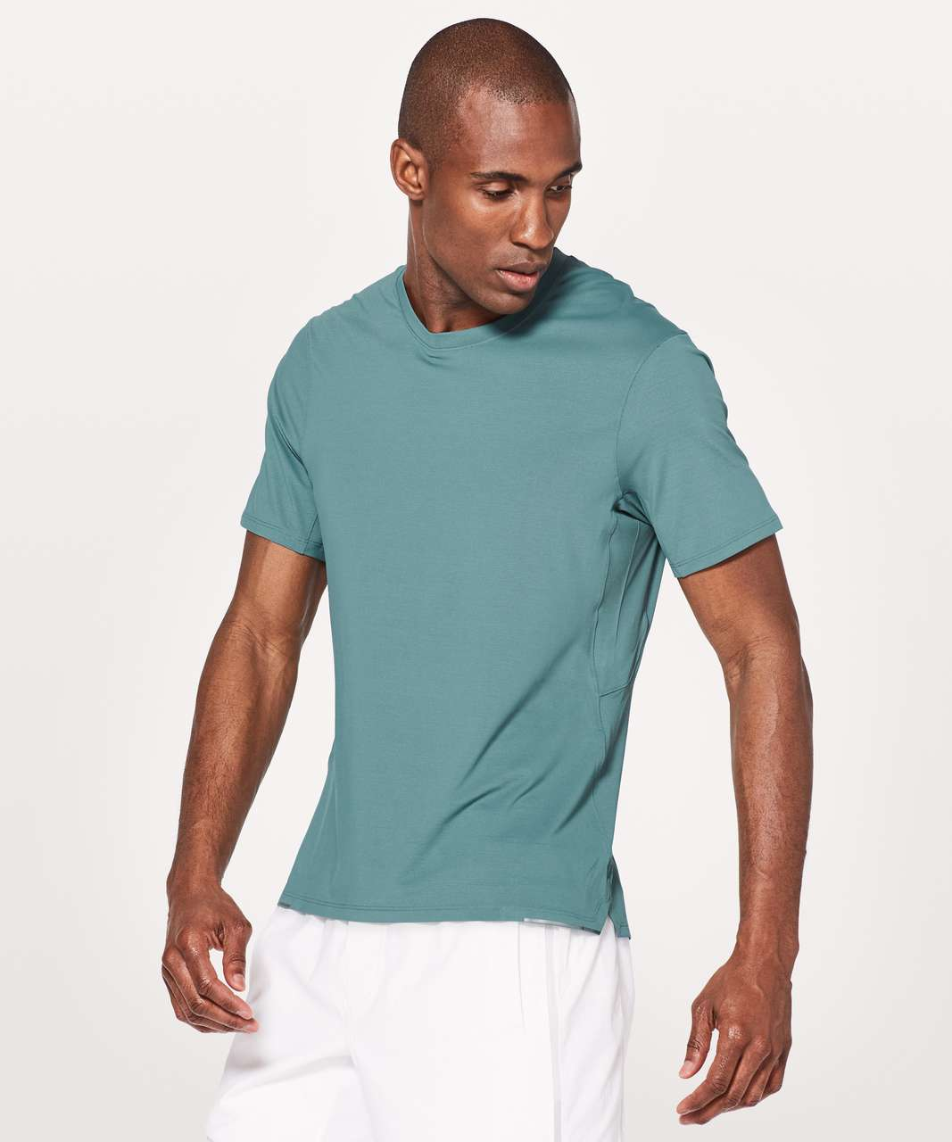 Lululemon Run Out Short Sleeve - Mystic Green