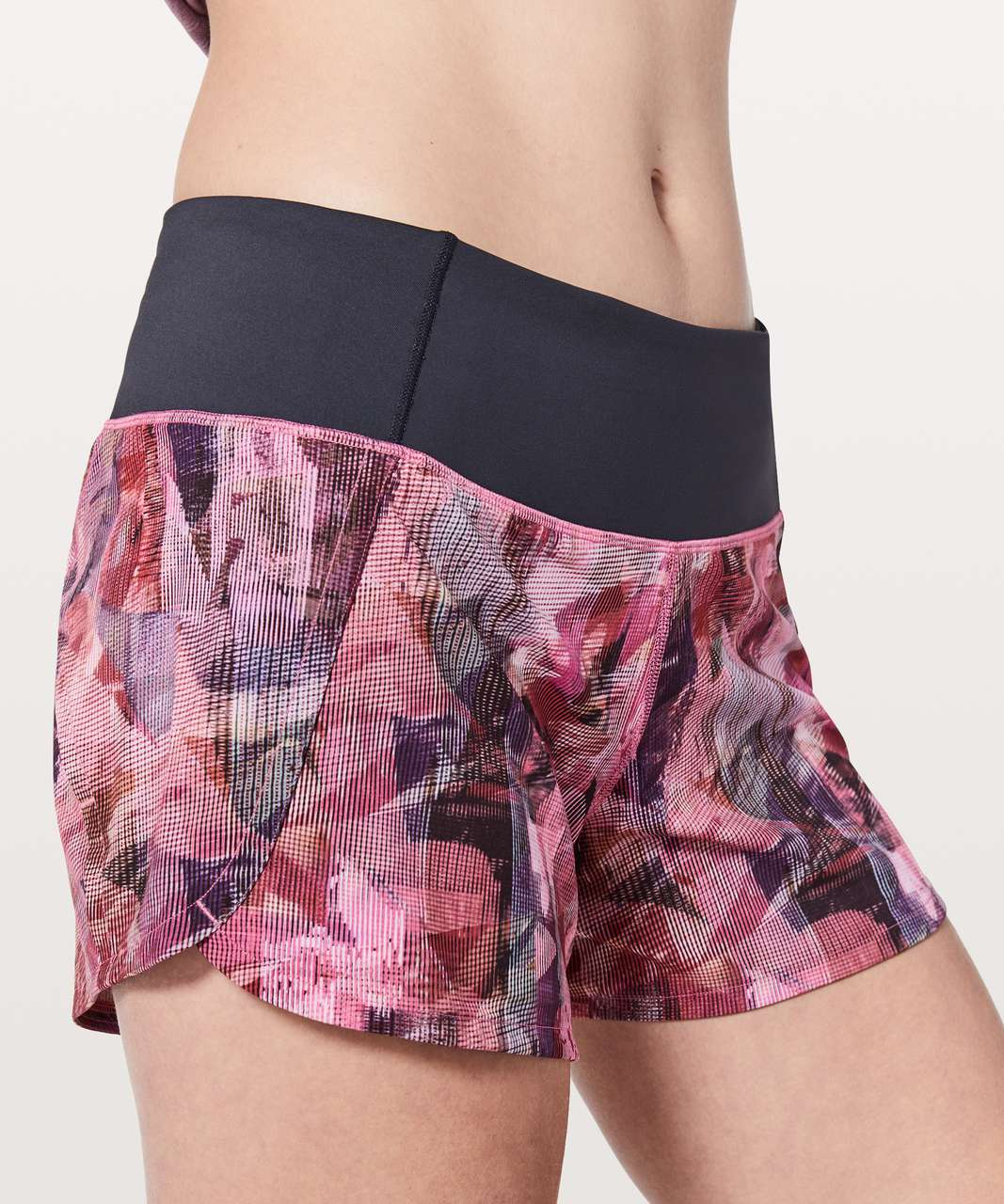 "Lululemon Run Times Short II *4"" - Sun Dazed Multi Pink / Super Dark"