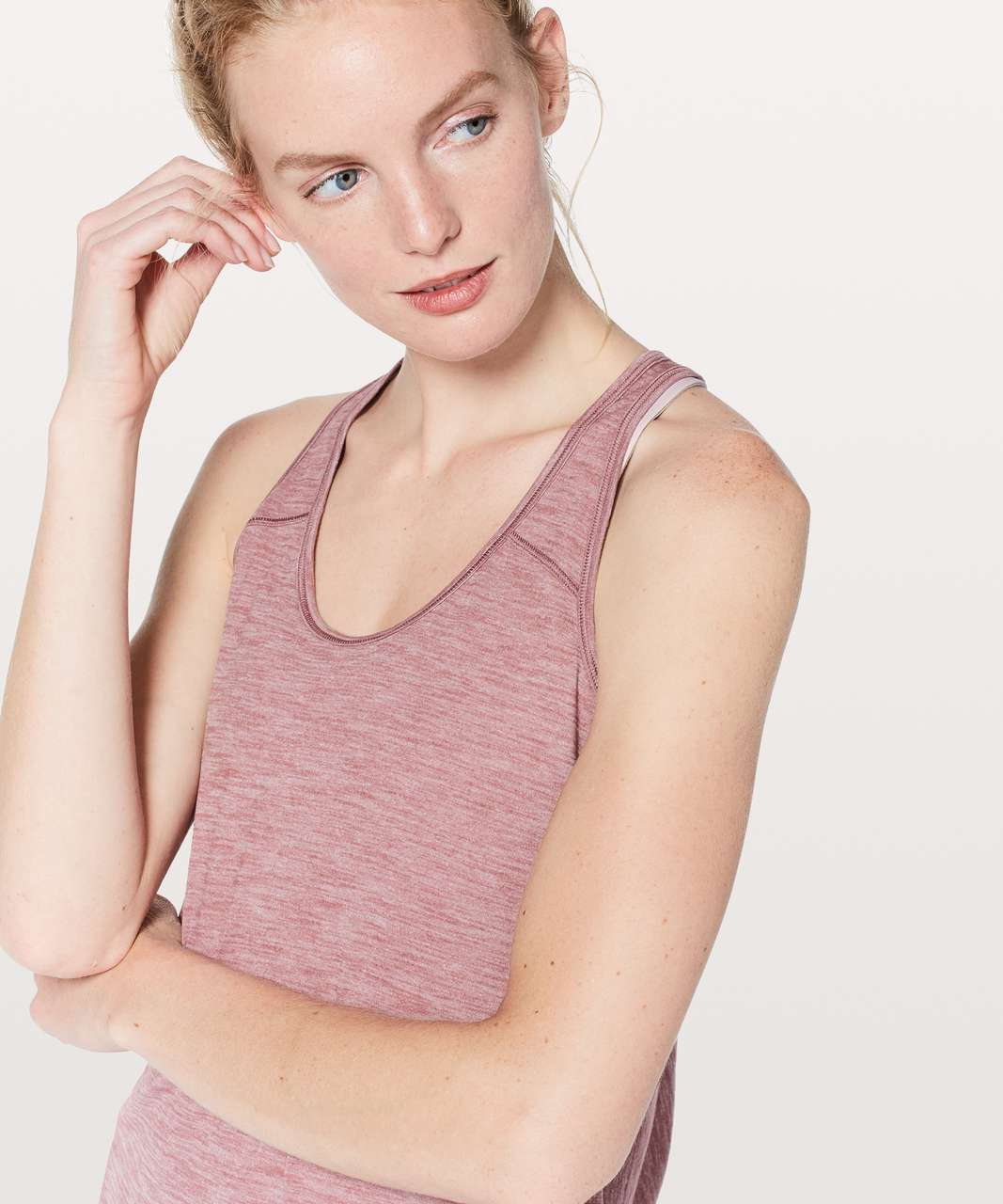 Lululemon Essential Tank - Heathered Figue