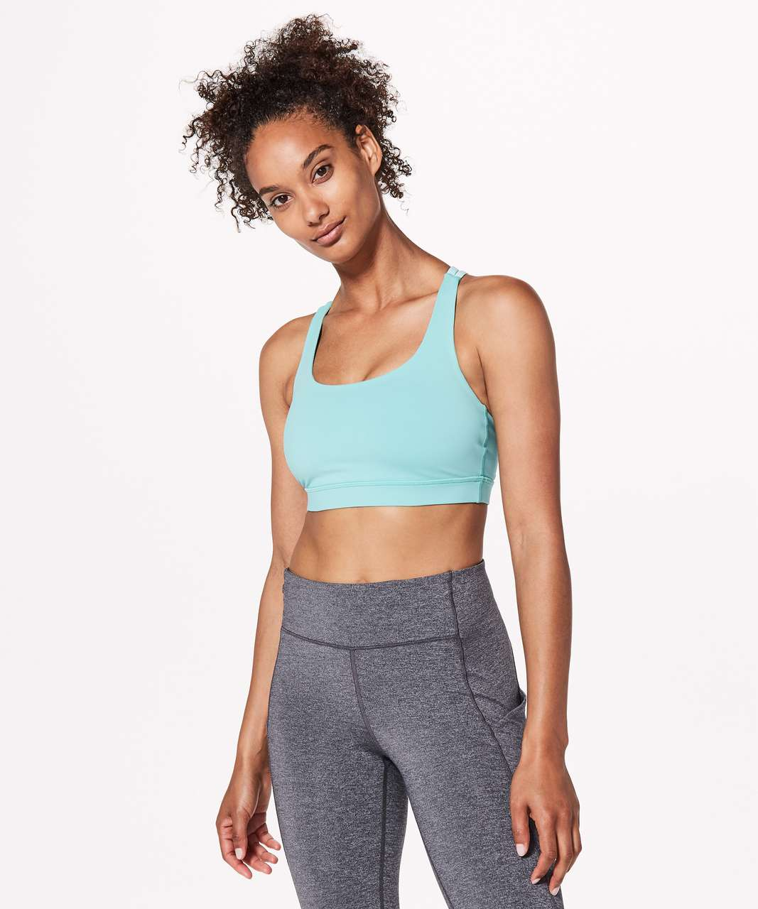 Lululemon Energy Bra - Washed Marsh / Aquamarine