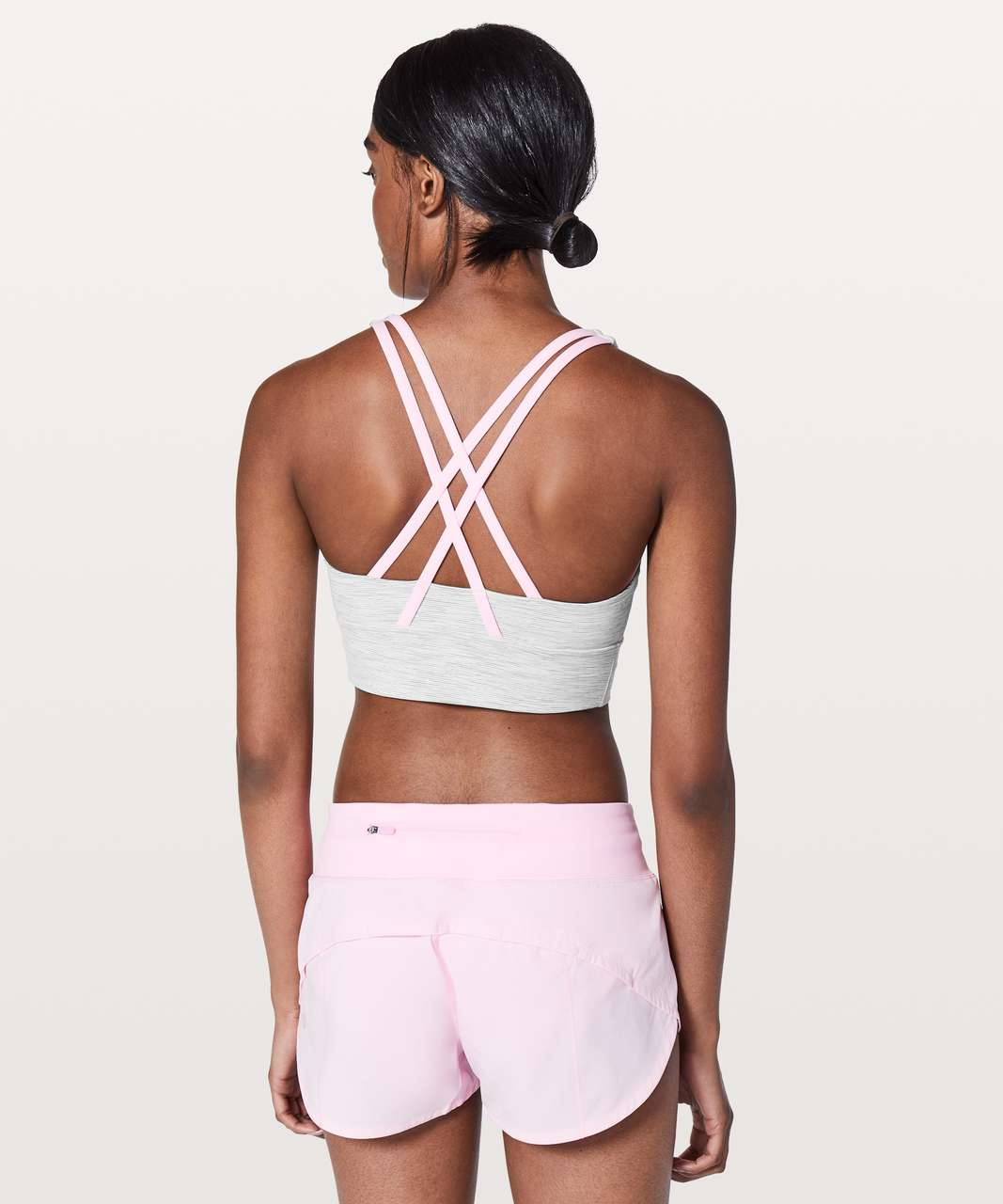 Lululemon Energy Bra *Long Line - Wee Are From Space Nimbus Battleship / Miami Pink