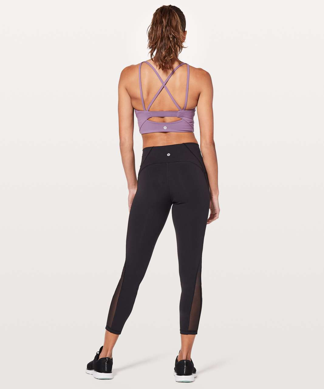Lululemon Clip-In Long Line Bra - Smoked Mulberry