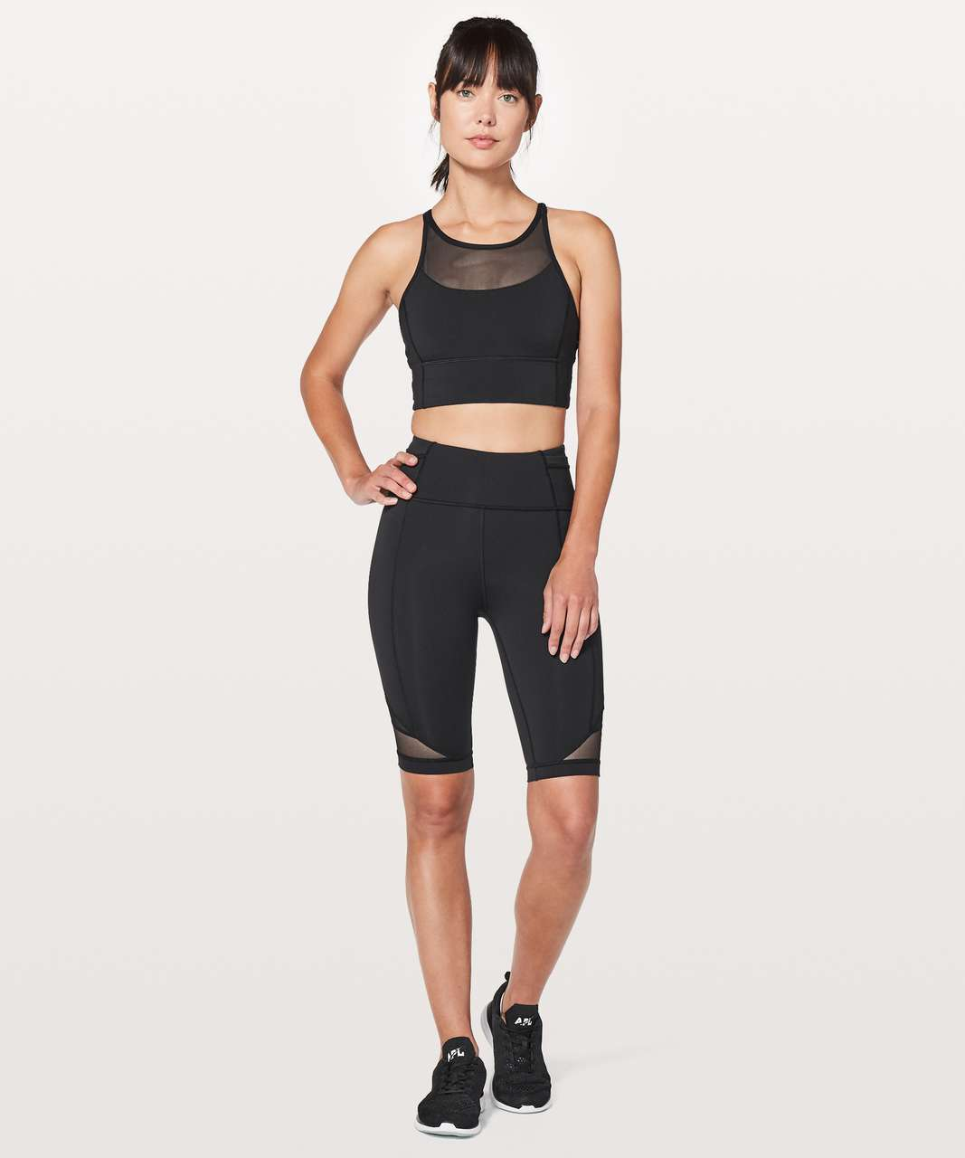 Lululemon Clip-In Long Line Bra - Black