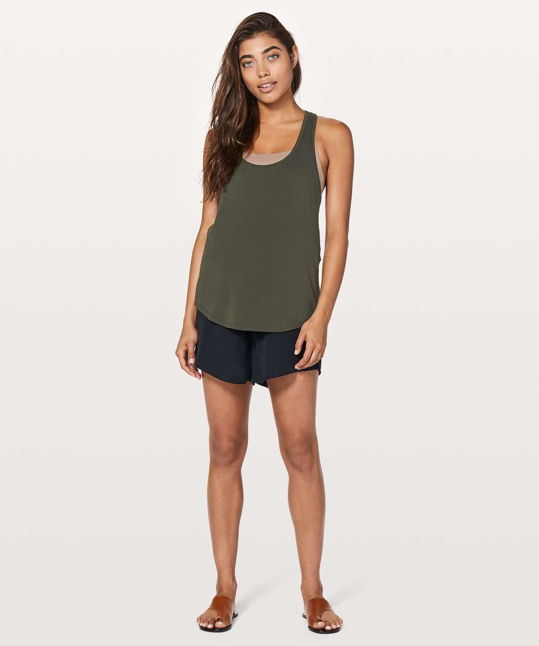 Lululemon Love Tank II - Dark Olive