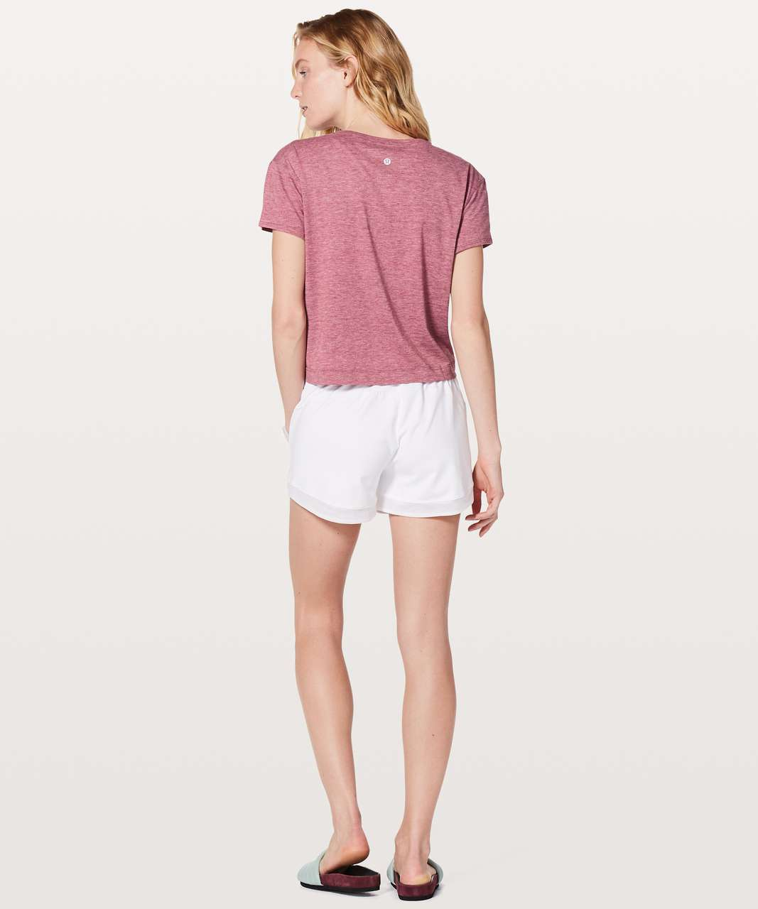 Lululemon Short Notice Tee - Heathered Moss Rose