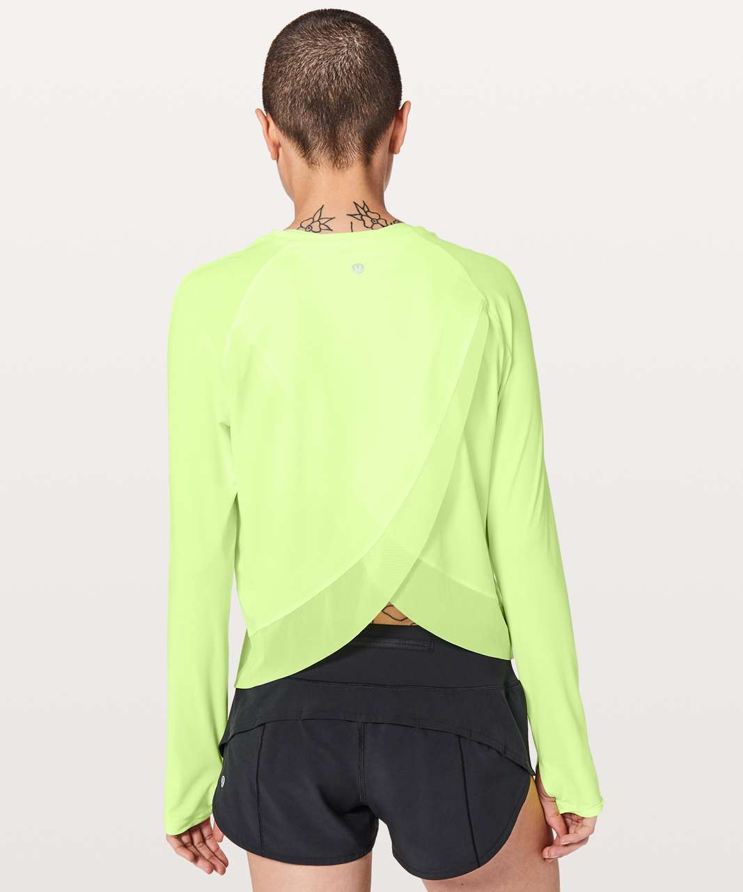 Lululemon Quick Pace Long Sleeve - Clear Mint