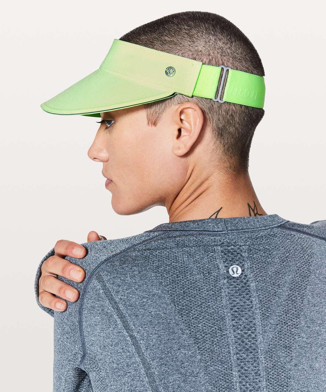 Lululemon Fast Paced Run Visor - Fluro Citrus / Clear Mint