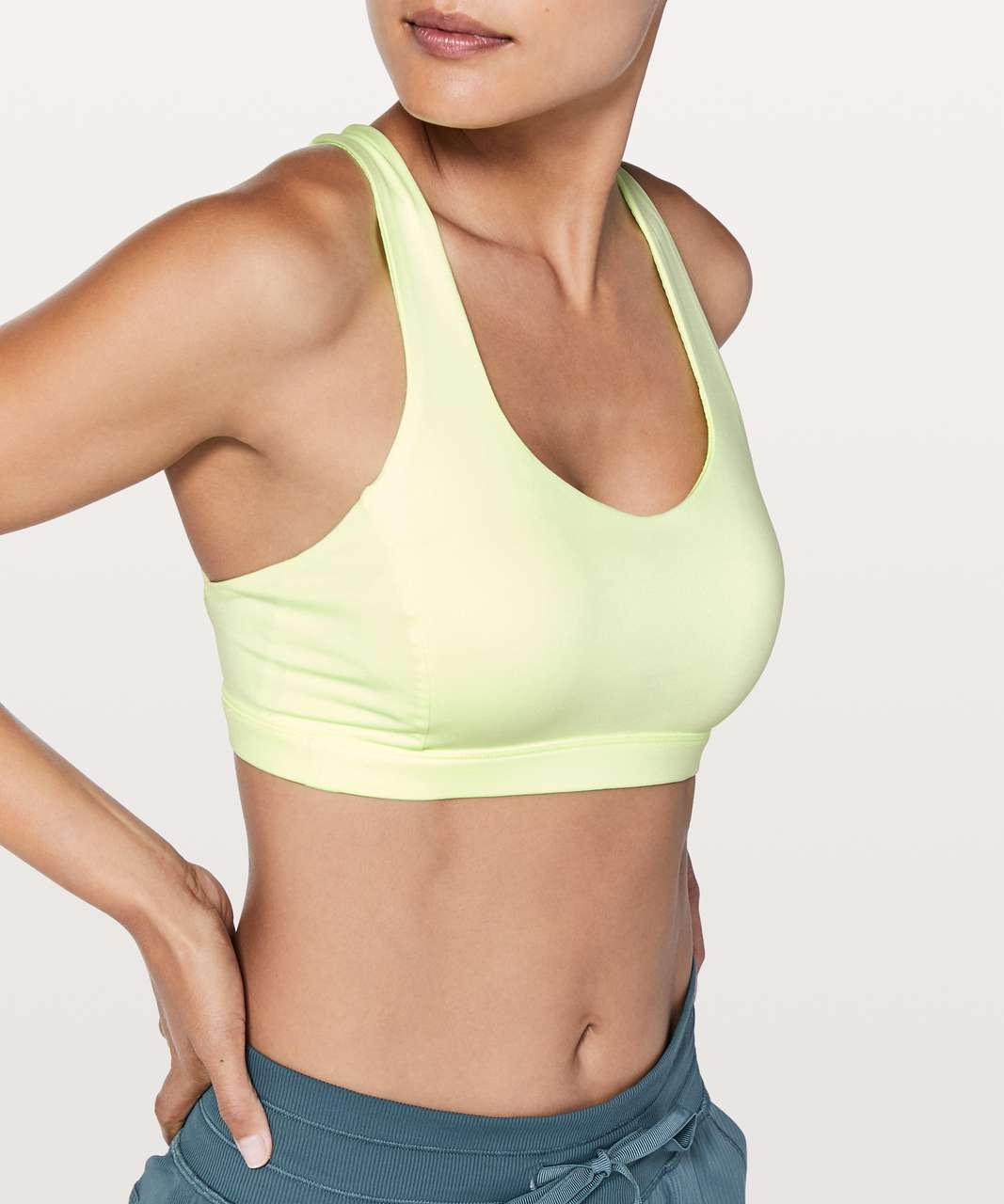Lululemon Free To Be Serene Bra - Fluro Citrus