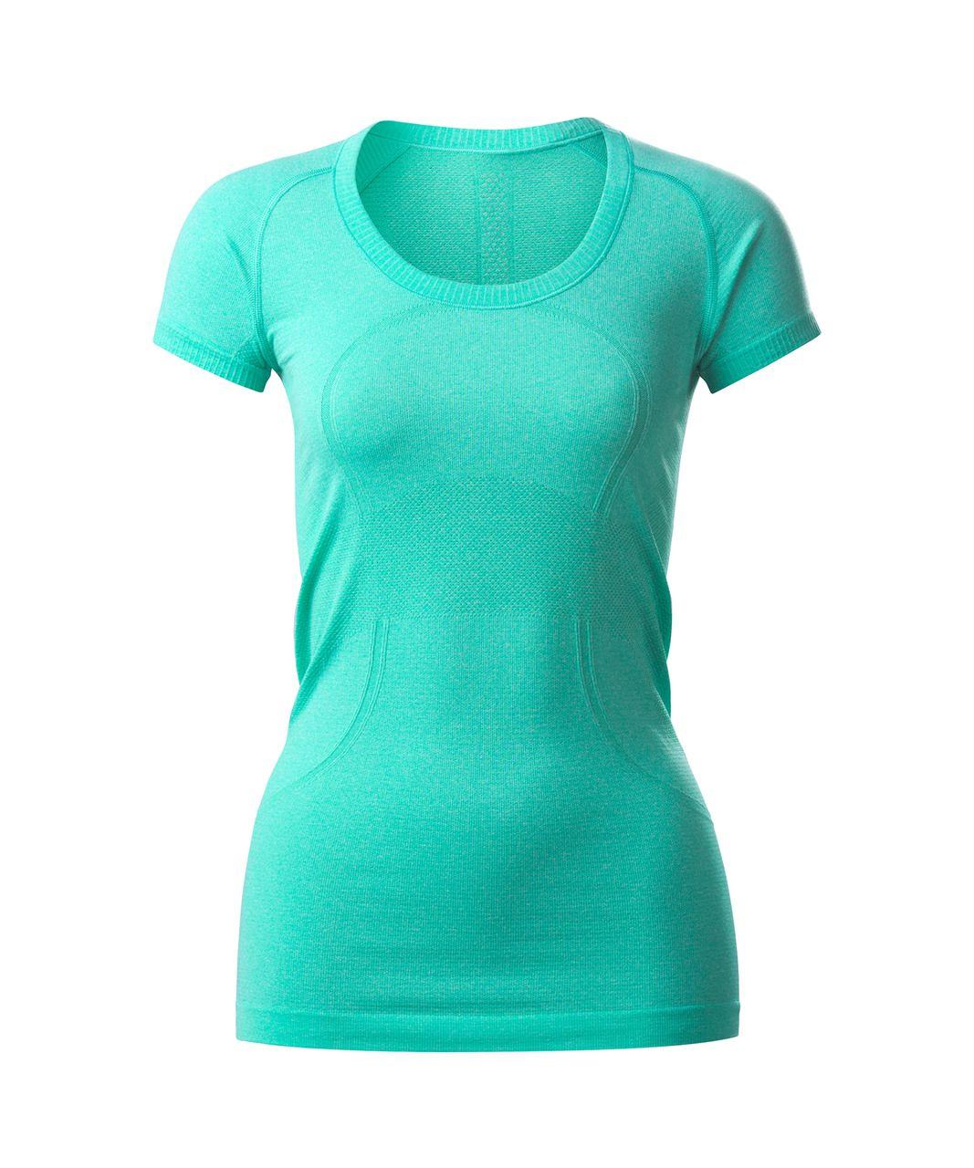 Lululemon Swiftly Tech Short Sleeve Scoop - Heathered Bali Breeze