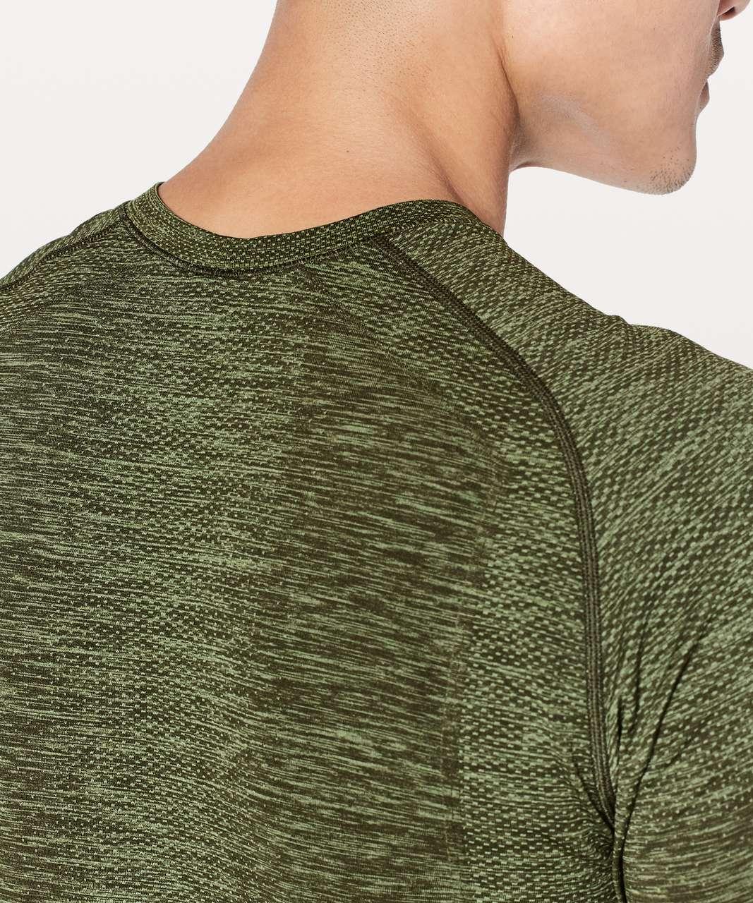 Lululemon Metal Vent Tech Short Sleeve - Green Twill / Dark Olive