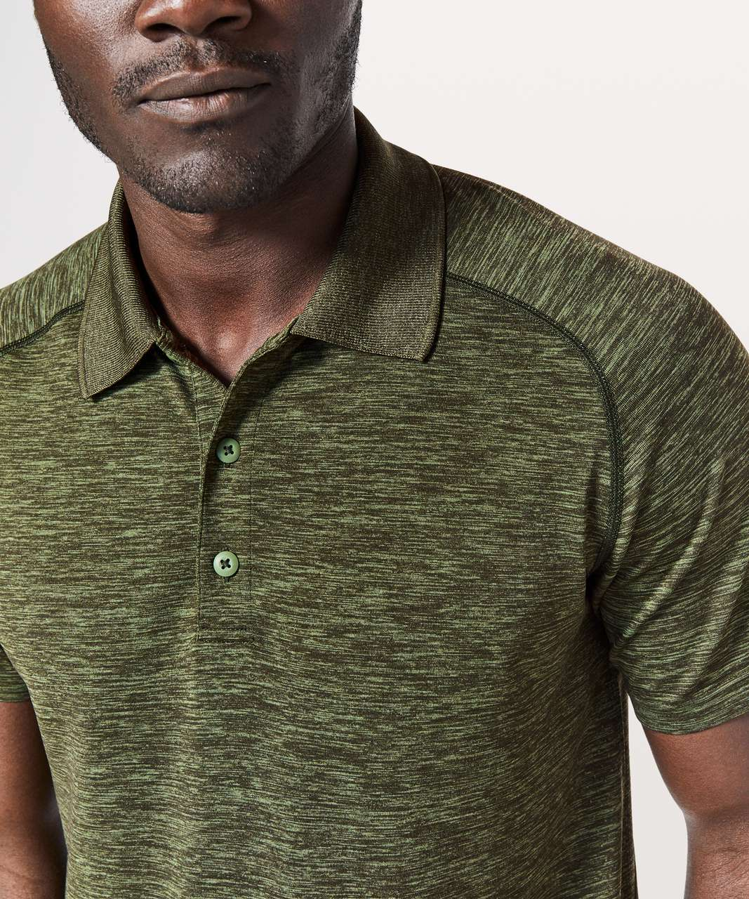 Lululemon Metal Vent Tech Polo - Green Twill / Dark Olive