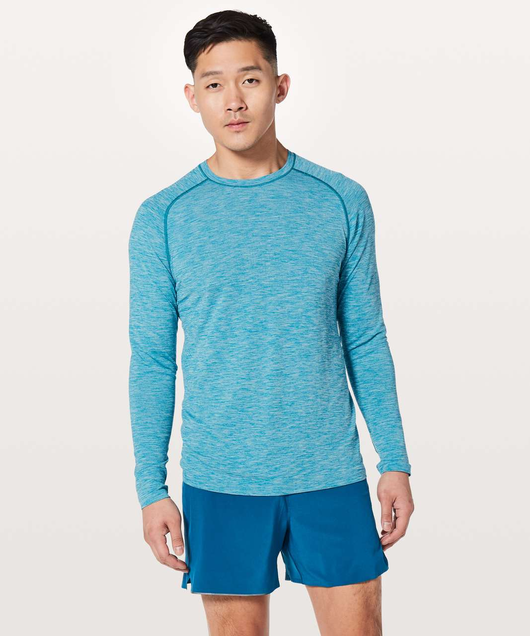 Lululemon Metal Vent Tech Surge Long Sleeve - Cyprus / White