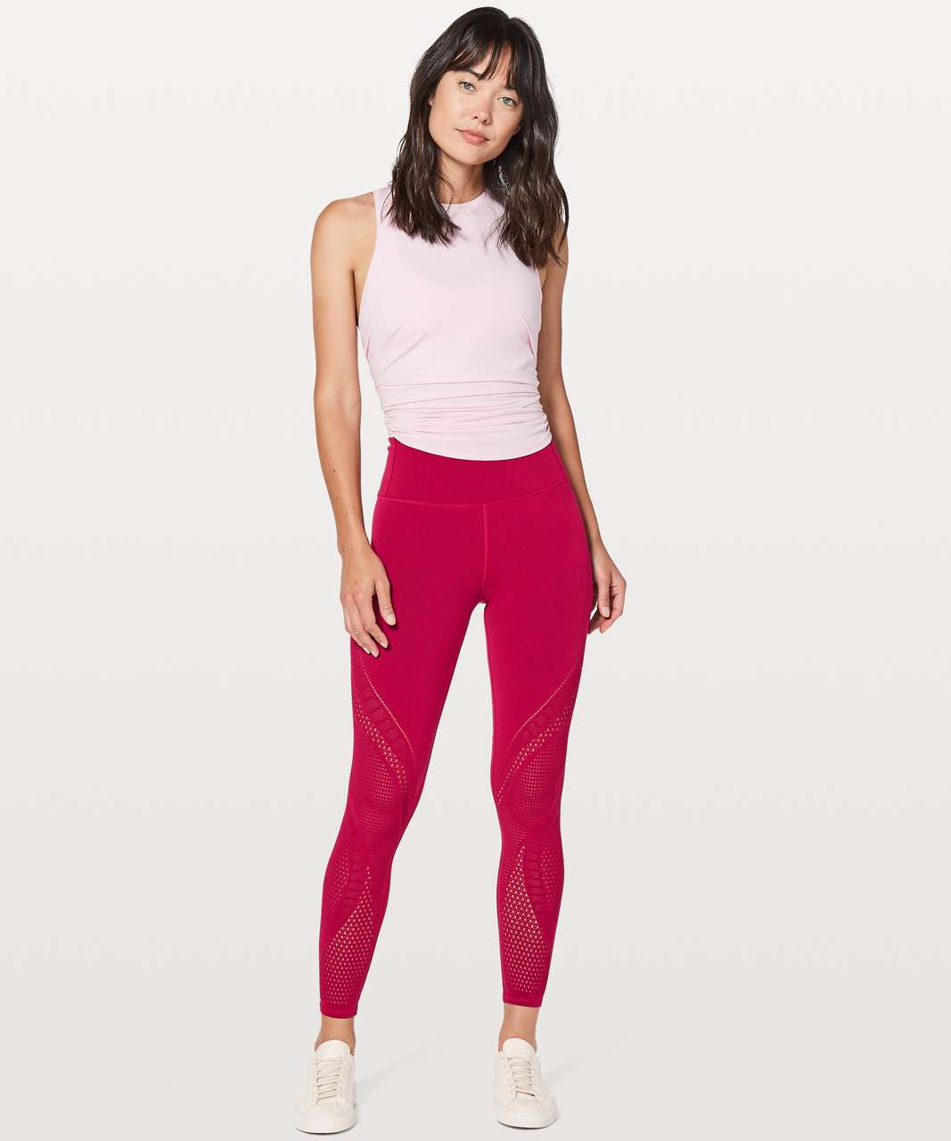 "Lululemon Reveal Tight Interconnect *25.5"" - Ruby Red"