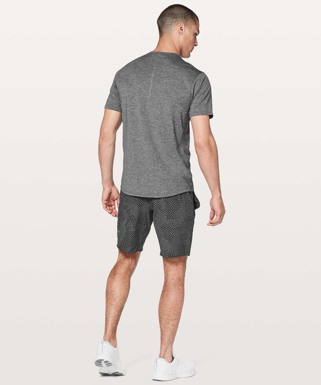 "Lululemon In Mind Short 9"" - Stitch Camo Ice Grey Deep Coal"