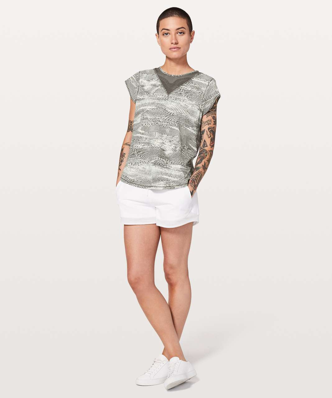 Lululemon For The Run Short Sleeve - Swerve Vapor Metal Grey / Metal Grey