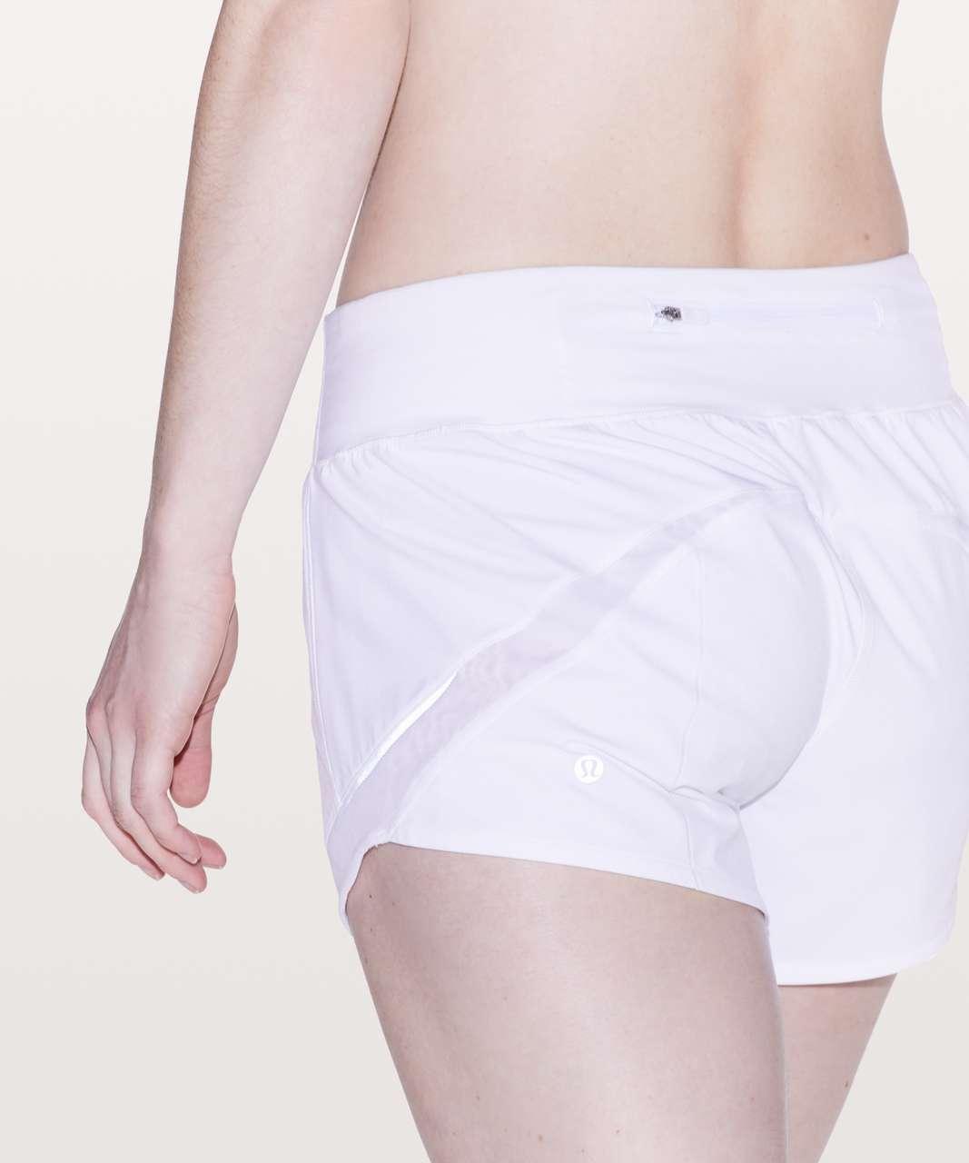 "Lululemon Gait Keeper Short *3.5"" - White"