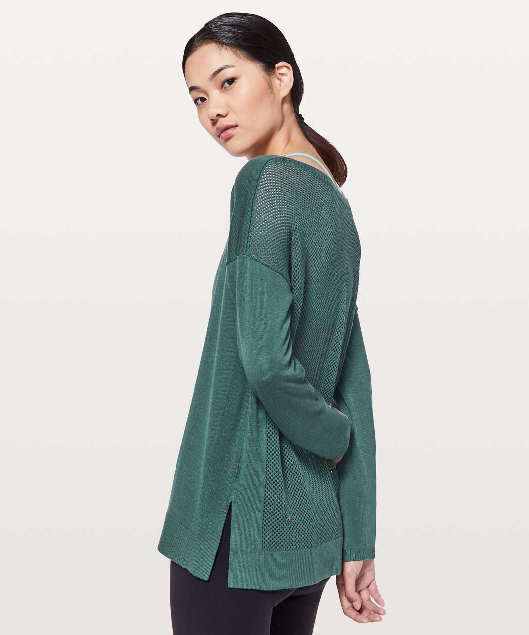 Lululemon Well Being Sweater - Green Jasper