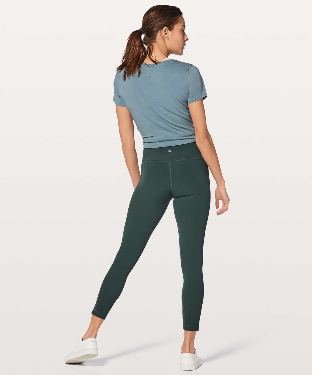 "Lululemon Wunder Under Hi-Rise 7/8 Tight *25"" - Teal Shadow"