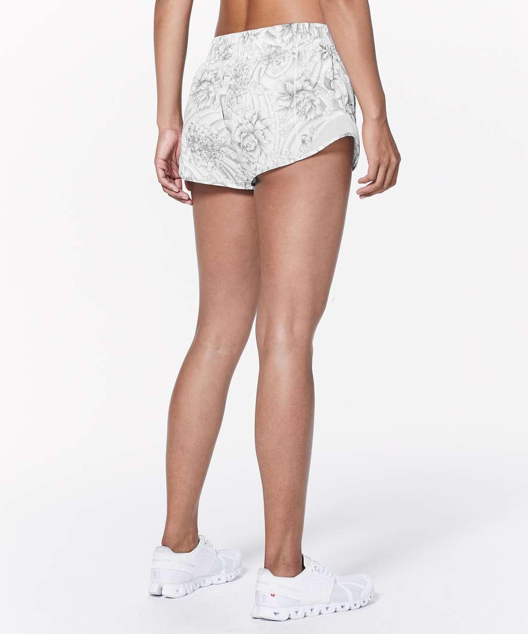 """Lululemon Hotty Hot Short II *2.5"""" - Mini Twine White Multi / White"""
