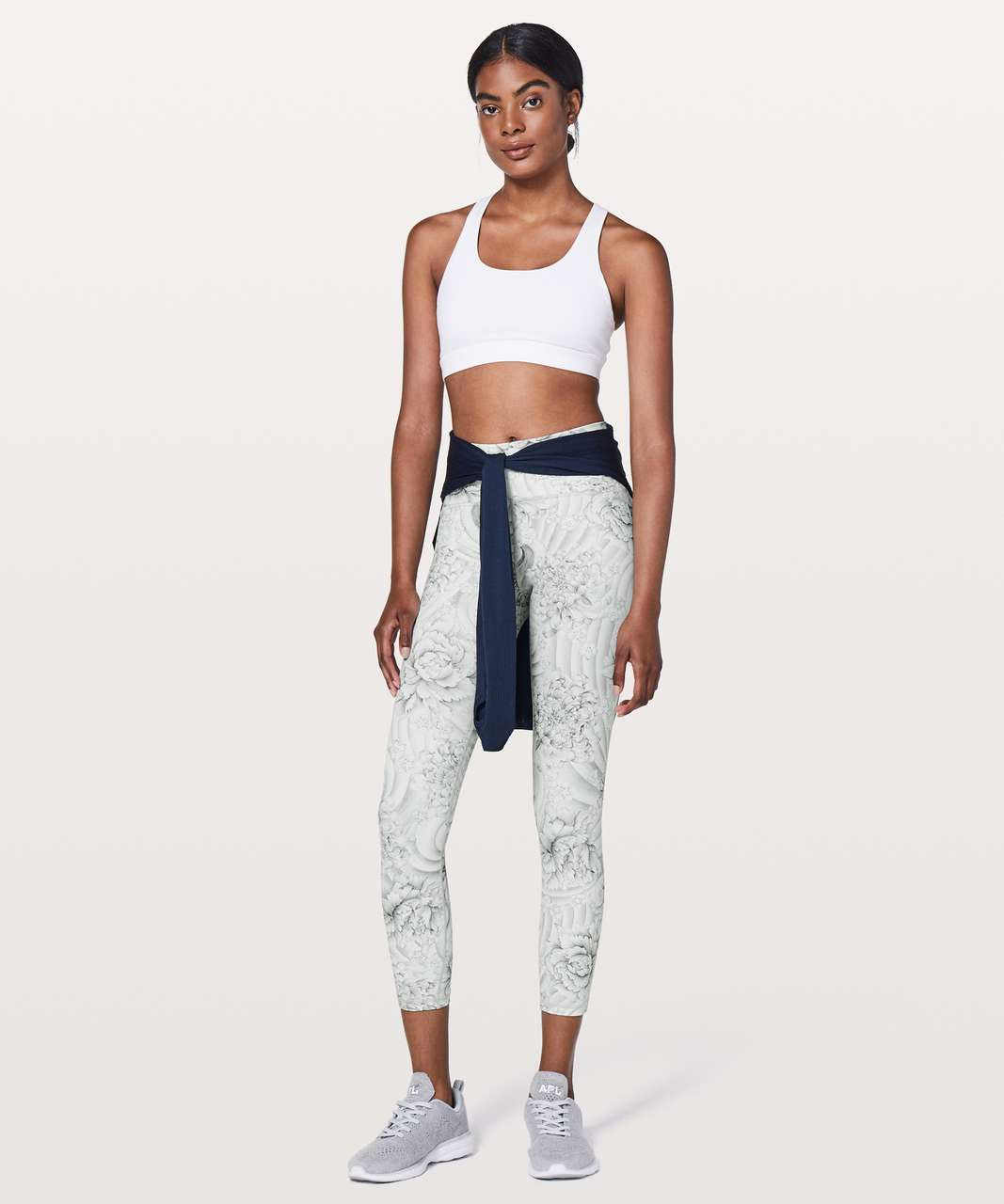"Lululemon Train Times 7/8 Pant *25"" - Twine White Multi / White"