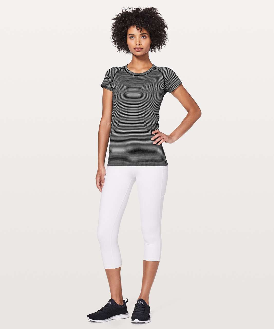 Lululemon Swiftly Tech Short Sleeve Crew - White / White / Black