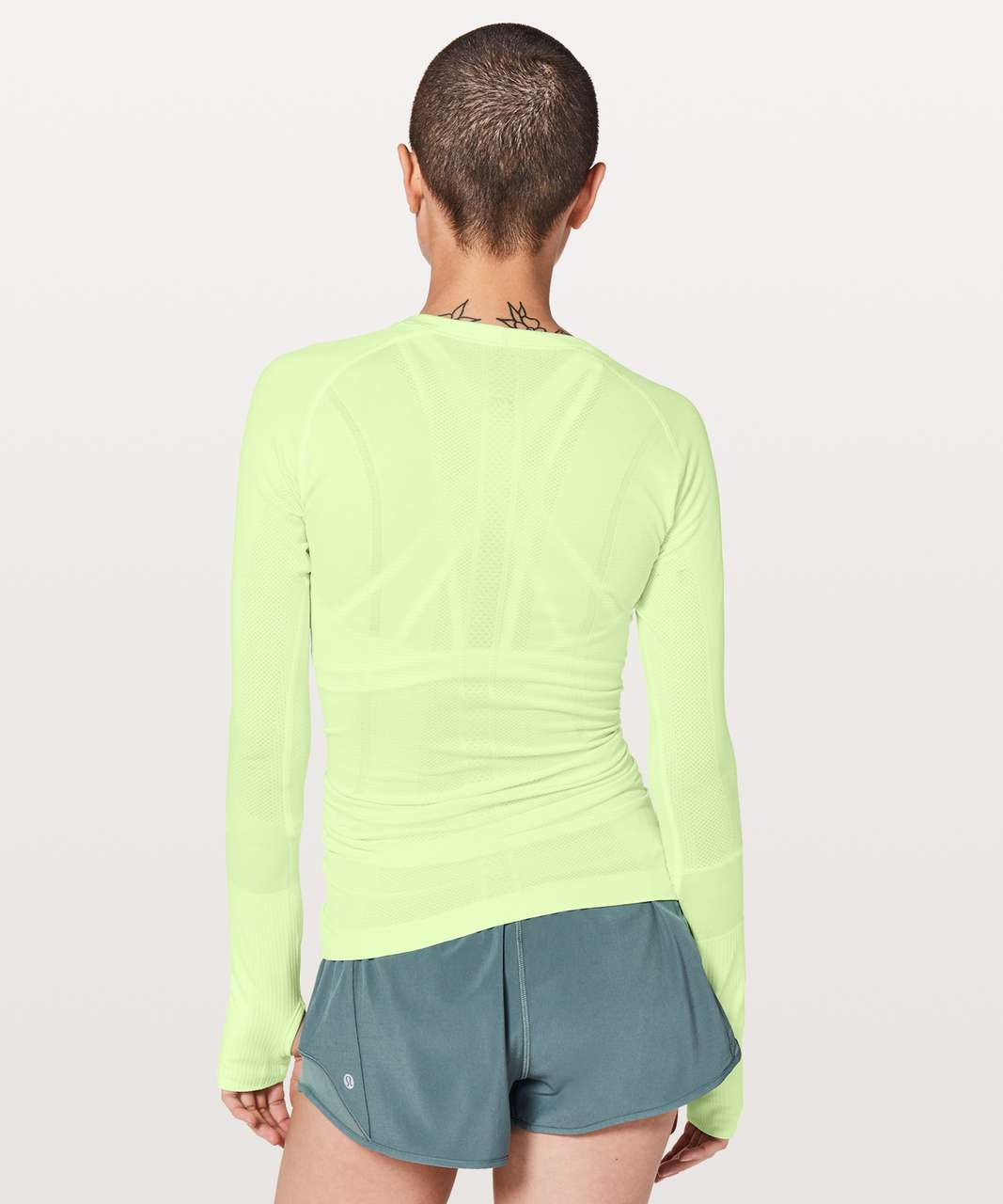 Lululemon Swiftly Tech Long Sleeve Crew - Fluro Citrus / Fluro Citrus