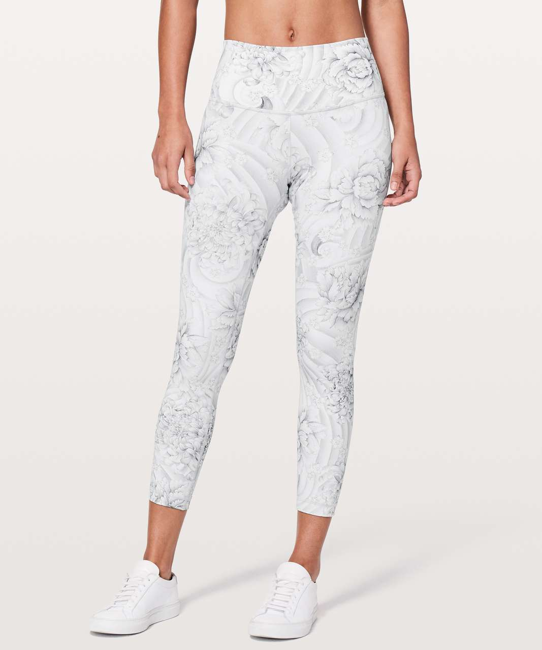 "Lululemon Wunder Under Hi-Rise 7/8 Tight *25"" - Twine White Multi"