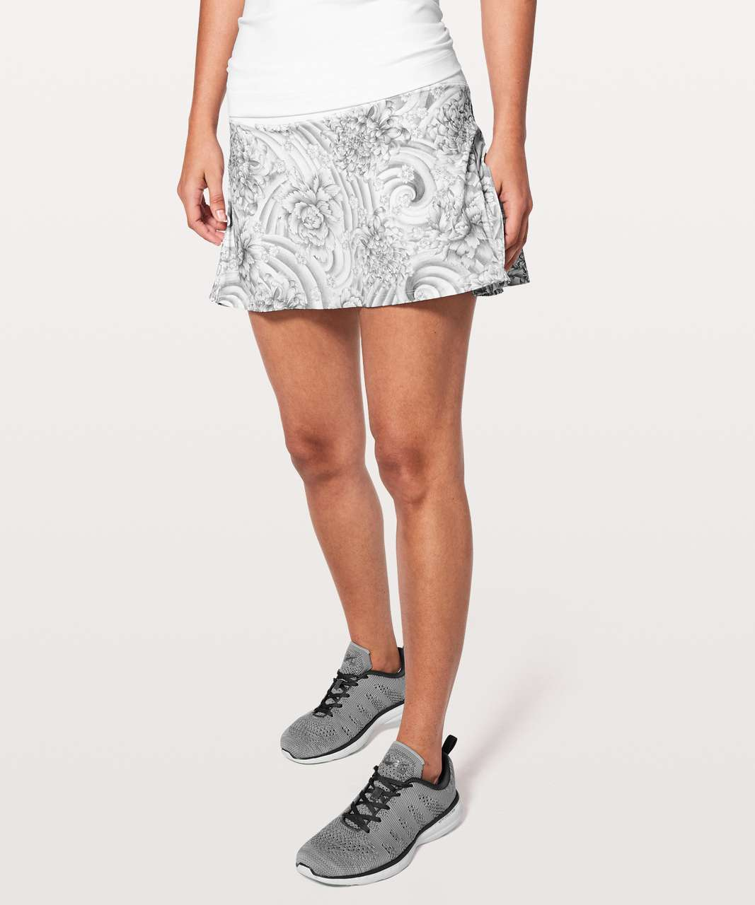 "Lululemon Play Off The Pleats Skirt *13"" - Mini Twine White Multi / White"